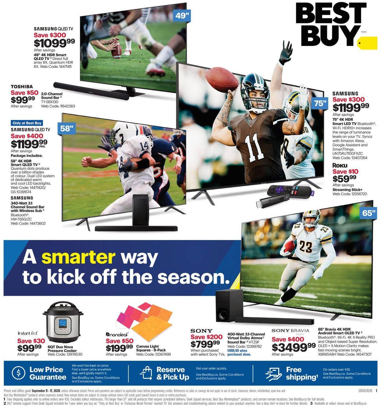 Best Buy Flyer - 09/11-09/17/2020