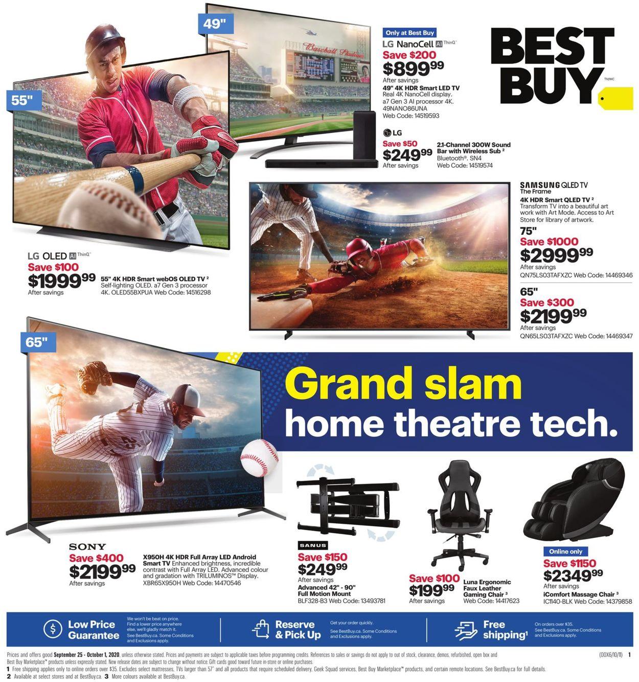 Best Buy Flyer - 09/25-10/01/2020
