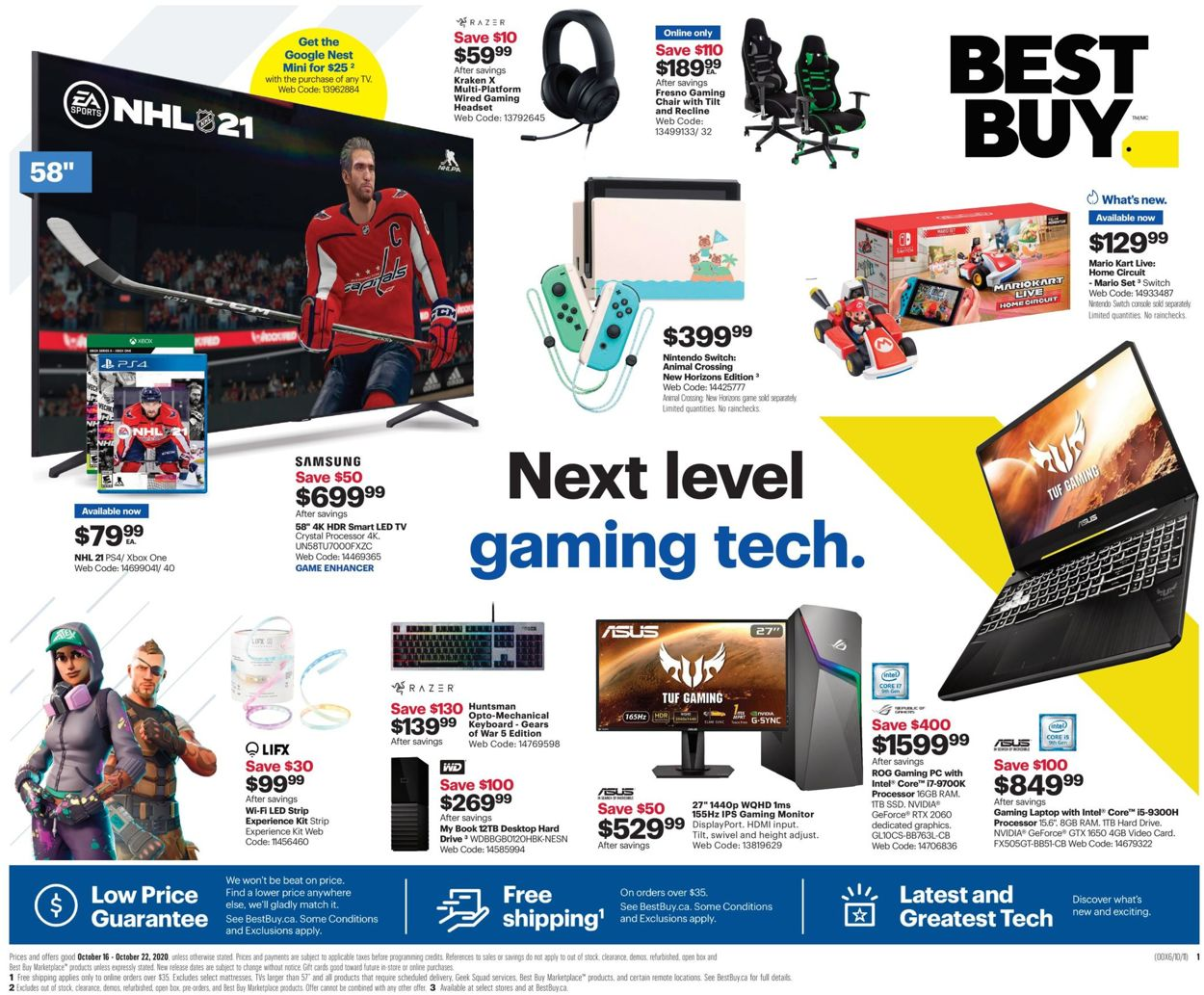 Best Buy Flyer - 10/16-10/22/2020