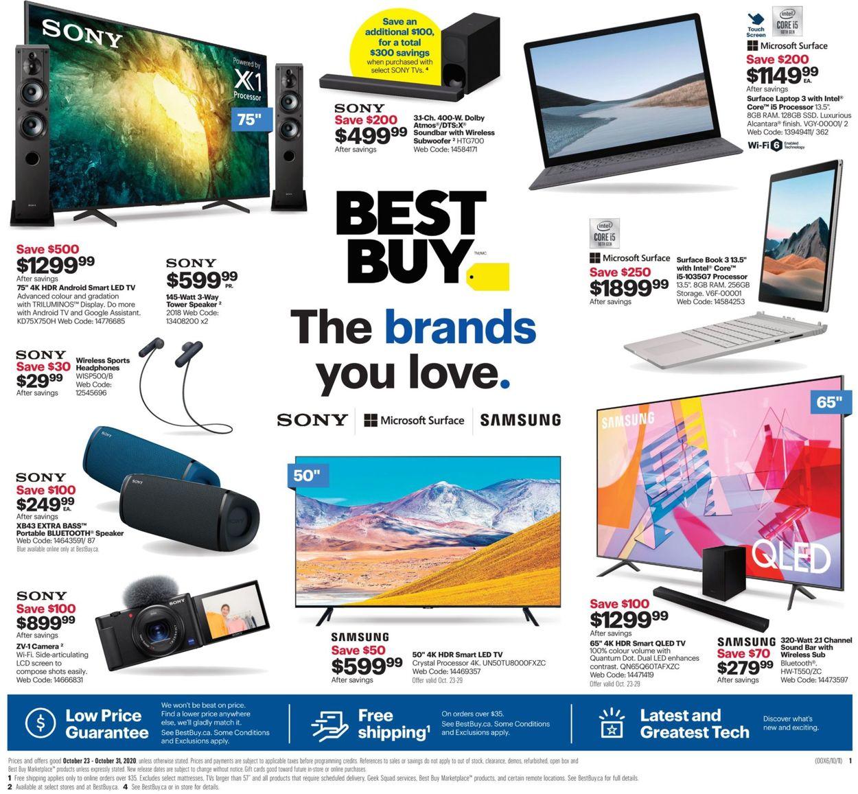 Best Buy Flyer - 10/23-10/31/2020