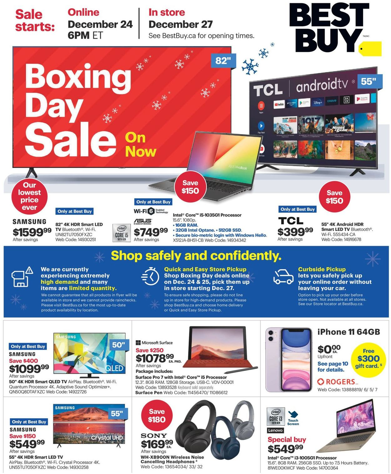 Best Buy - Boxing Day 2020 Flyer - 12/24-12/31/2020