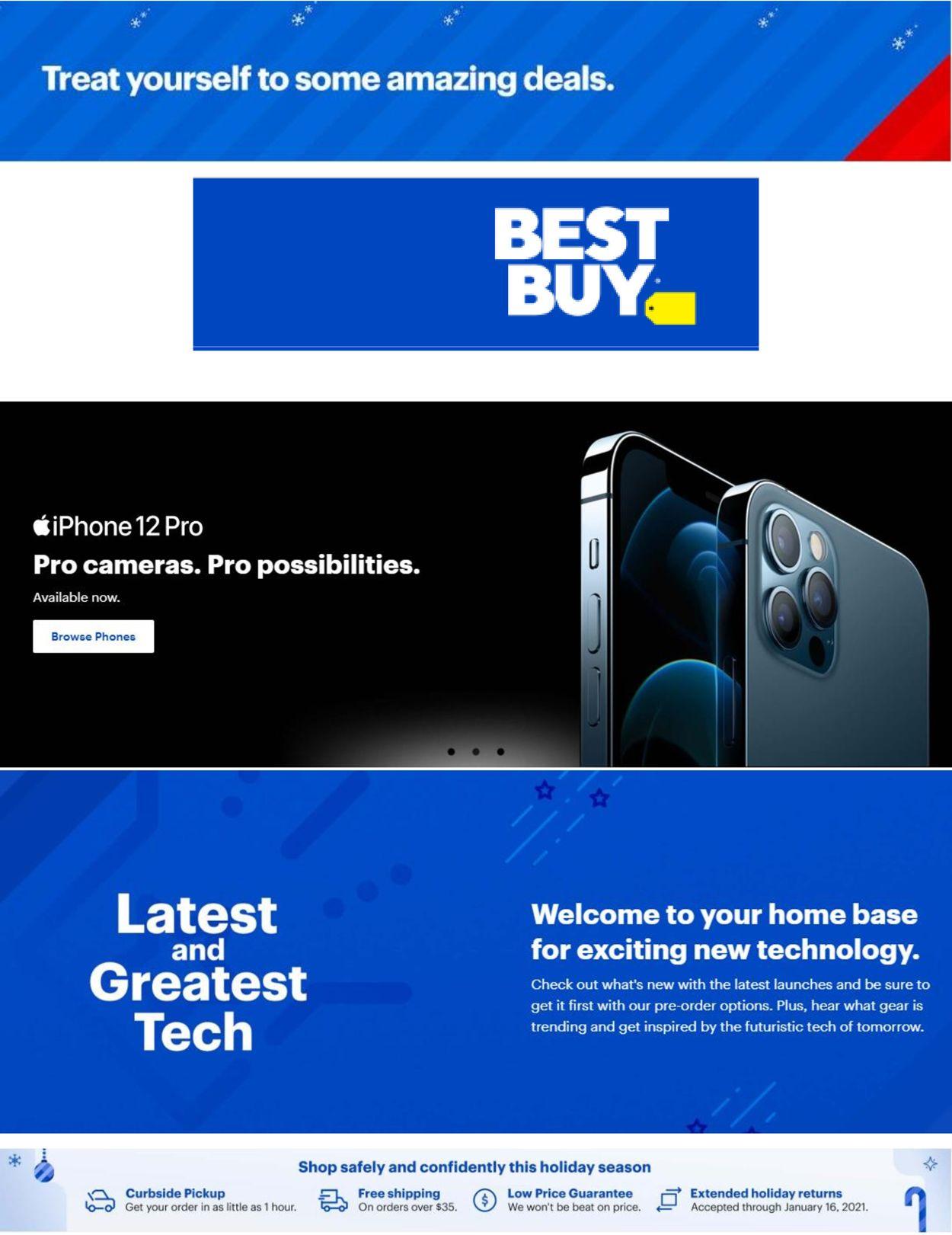 Best Buy Flyer - 01/01-01/07/2021