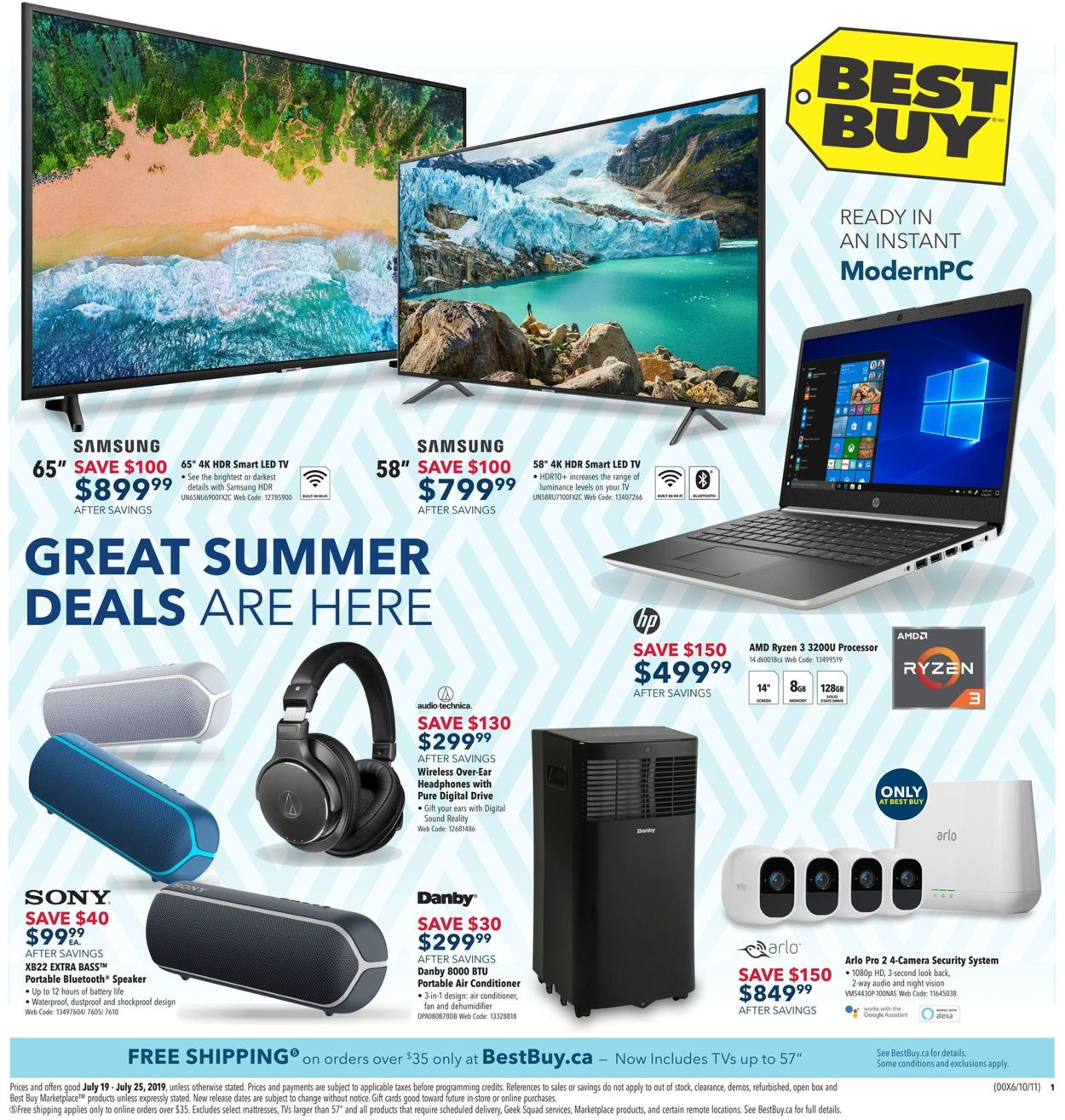 Best Buy Flyer - 07/19-07/25/2019