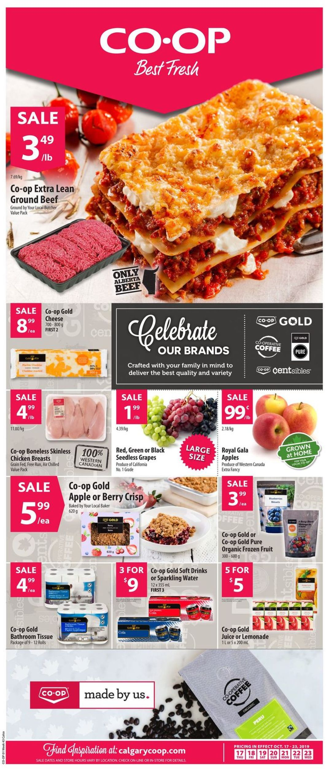 Calgary Co-op Flyer - 10/17-10/23/2019