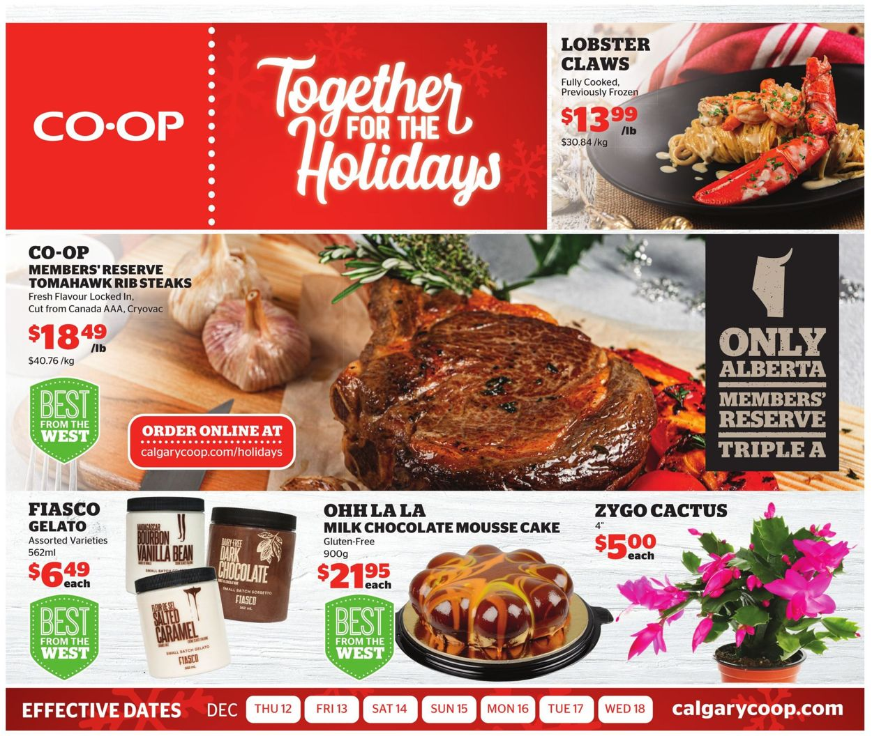 Calgary Co-op - HOLIDAYS 2019 FLYER Flyer - 12/12-12/18/2019