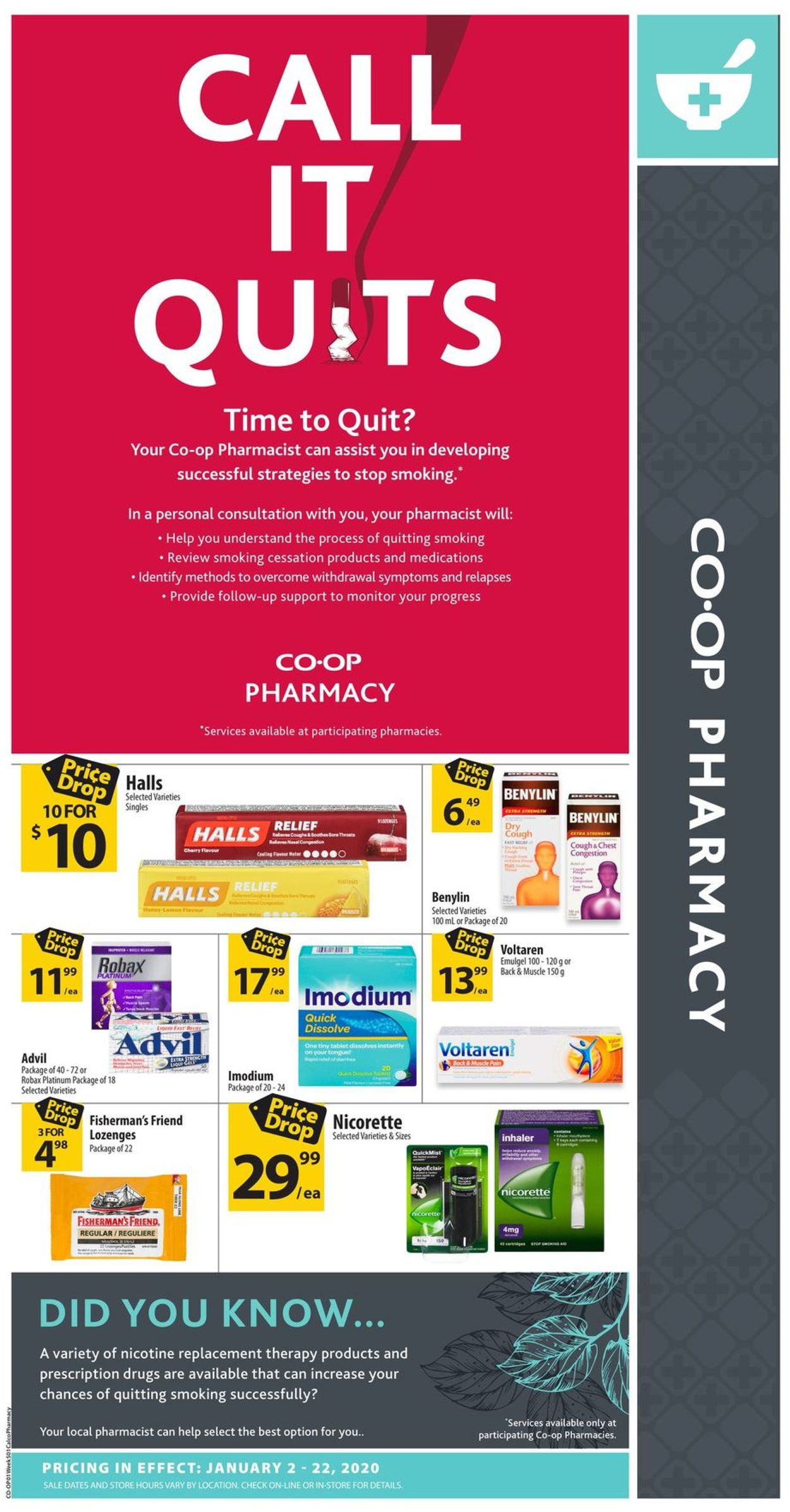 Calgary Co-op Flyer - 01/02-01/22/2020