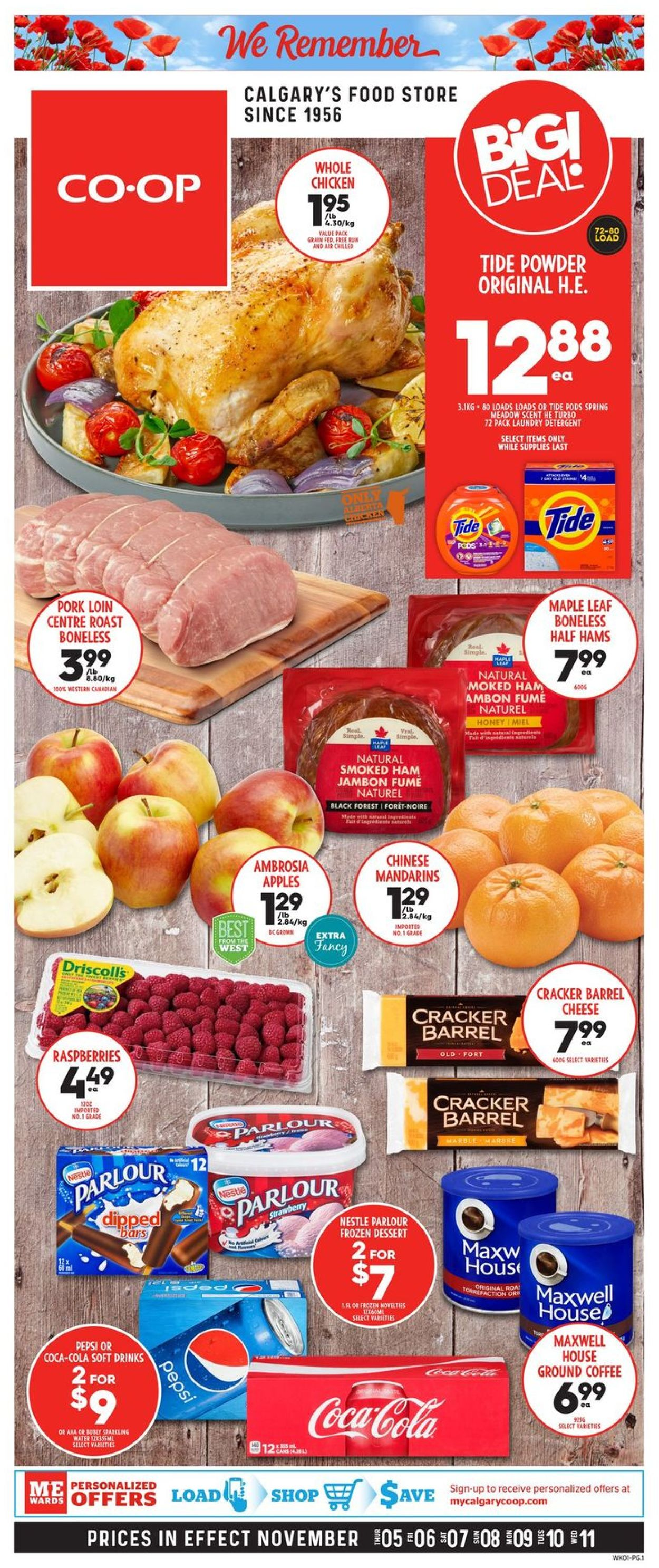 Calgary Co-op Flyer - 11/05-11/11/2020