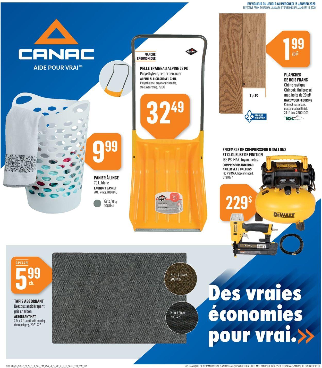 Canac Flyer - 01/09-01/15/2020