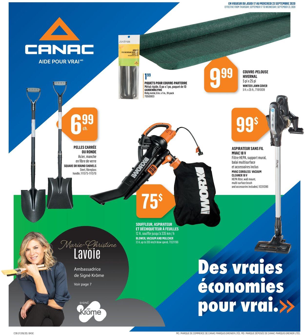 Canac Flyer - 09/17-09/23/2020