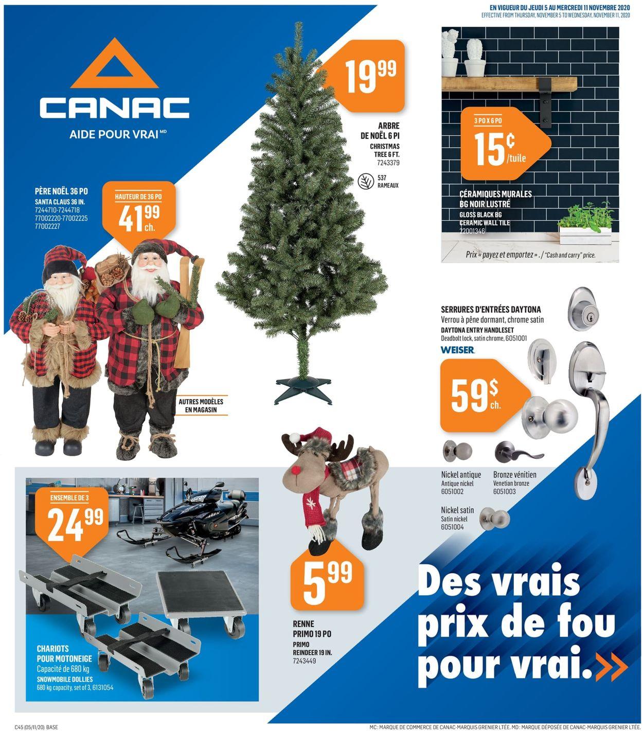 Canac - Christmas 2020 Flyer - 11/05-11/11/2020