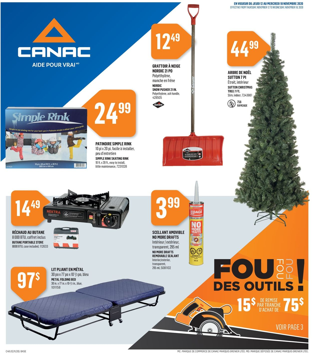 Canac Flyer - 11/12-11/18/2020