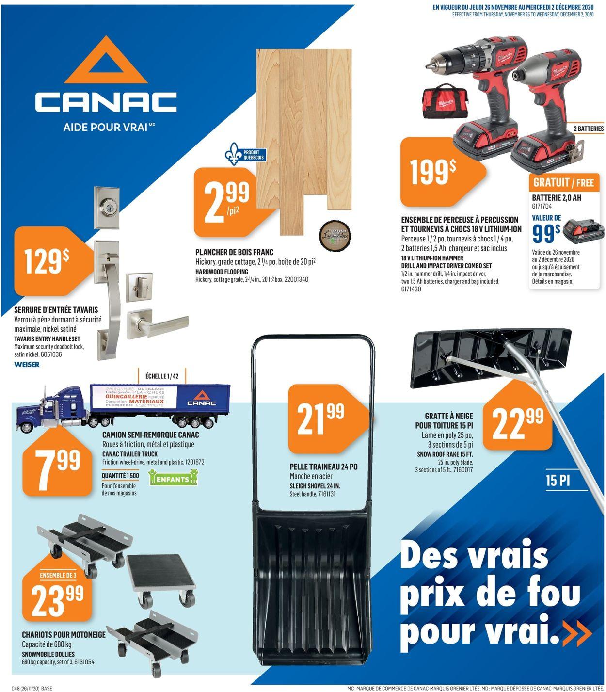 Canac - Black Friday 2020 Flyer - 11/26-12/02/2020