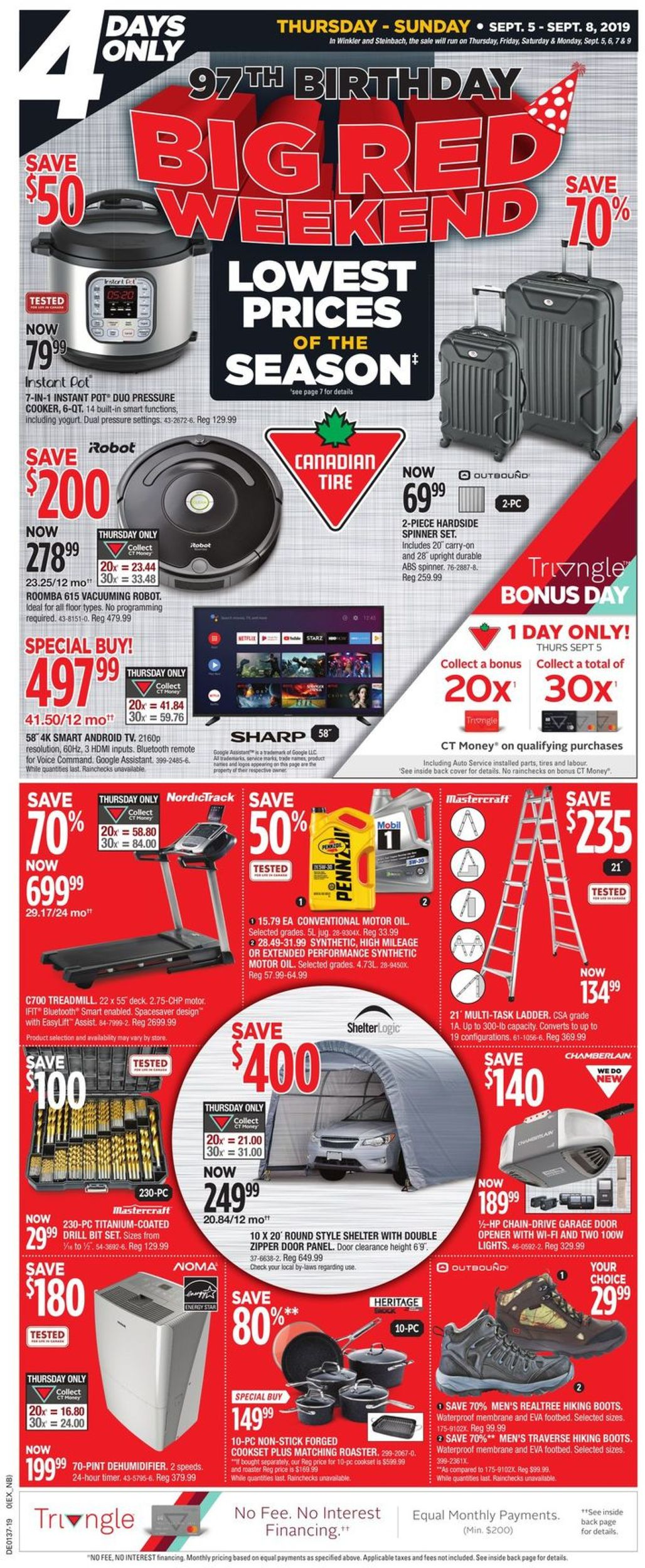 Canadian Tire Flyer - 09/05-09/08/2019
