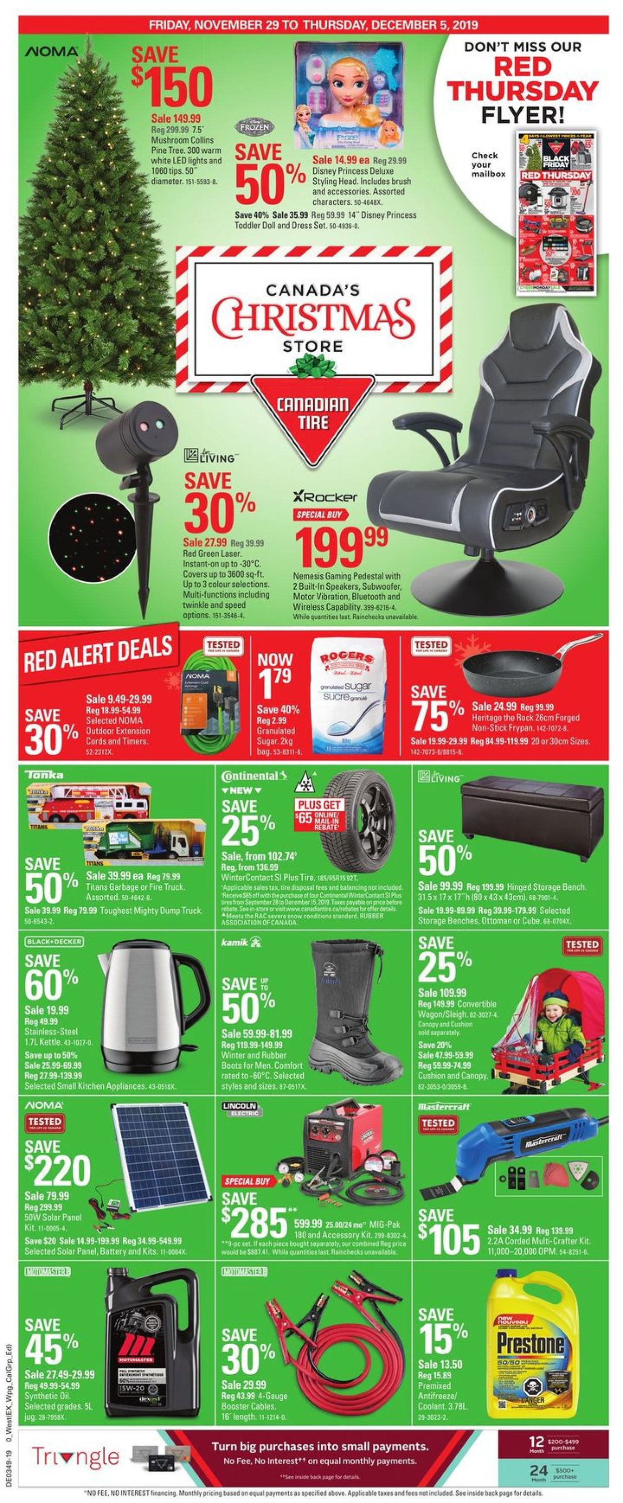Canadian Tire - Christmas 2019 Flyer - 11/29-12/05/2019