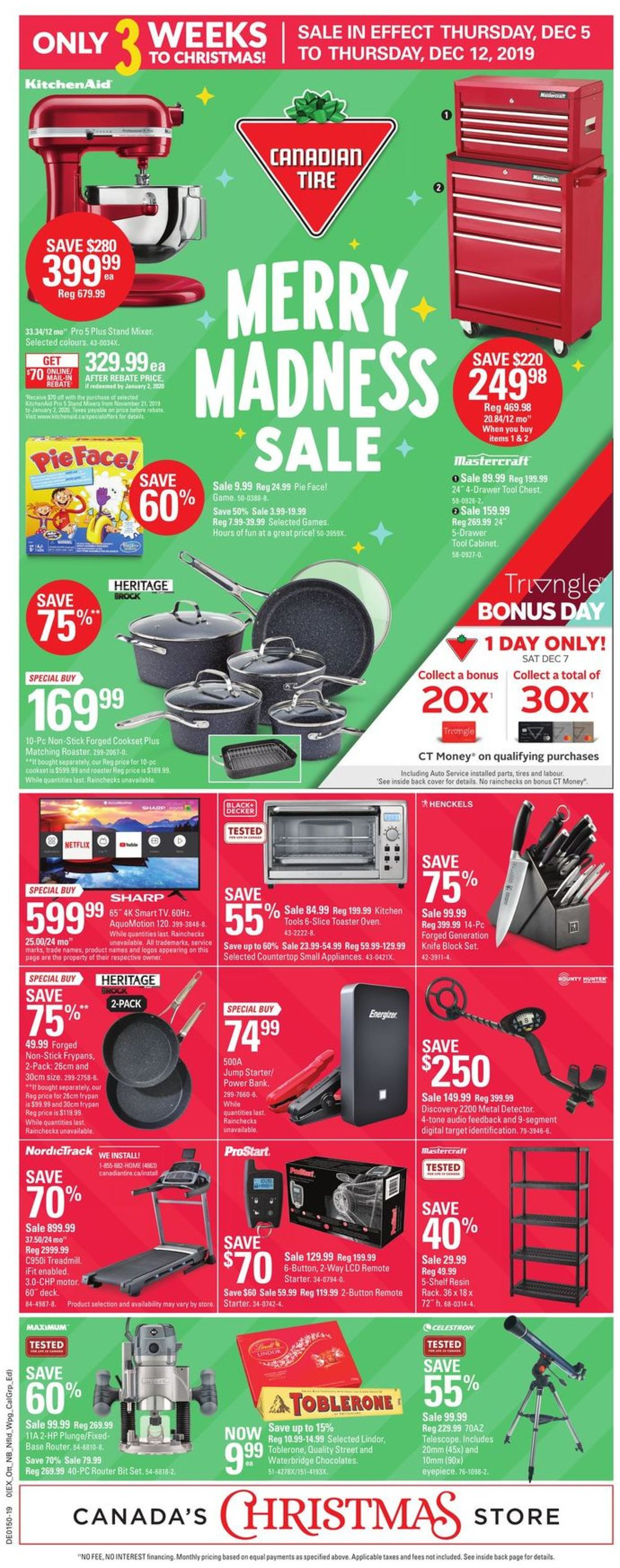 Canadian Tire - Christmas Flyer 2019 Flyer - 12/05-12/12/2019
