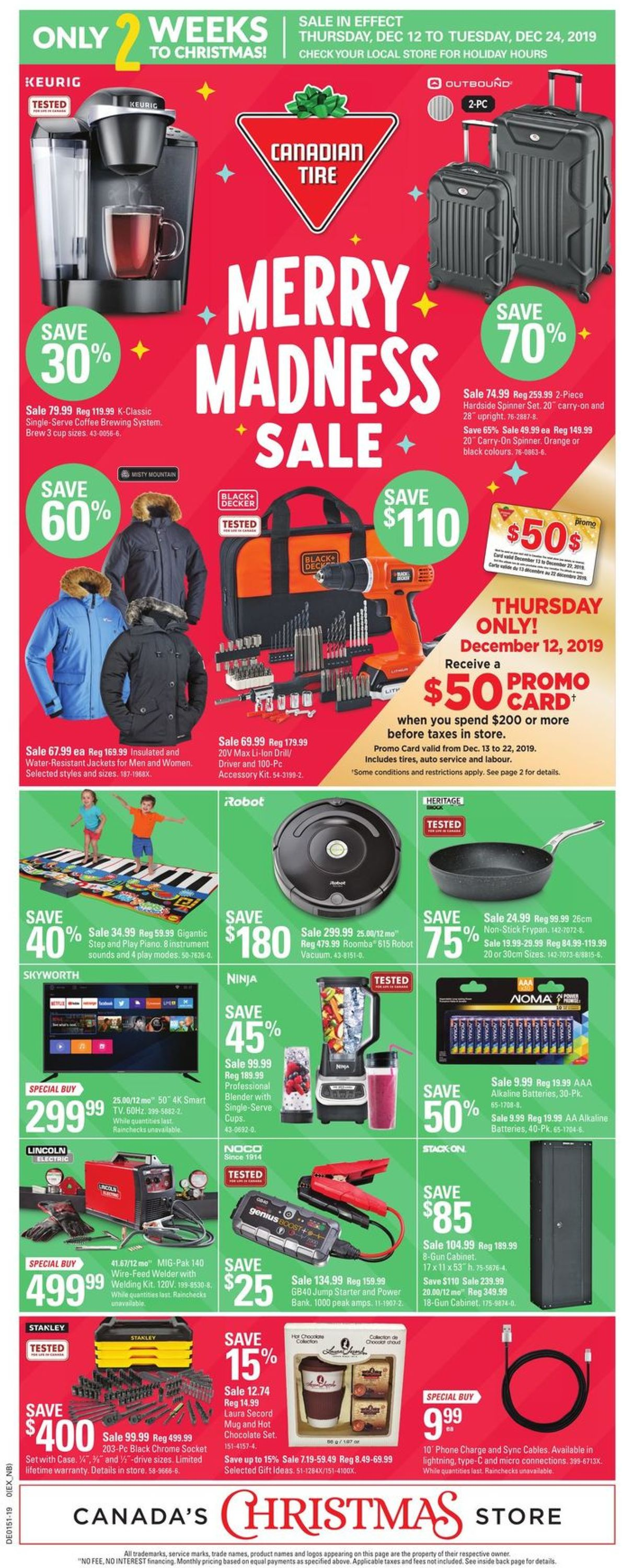 Canadian Tire - Holiday 2019 Flyer