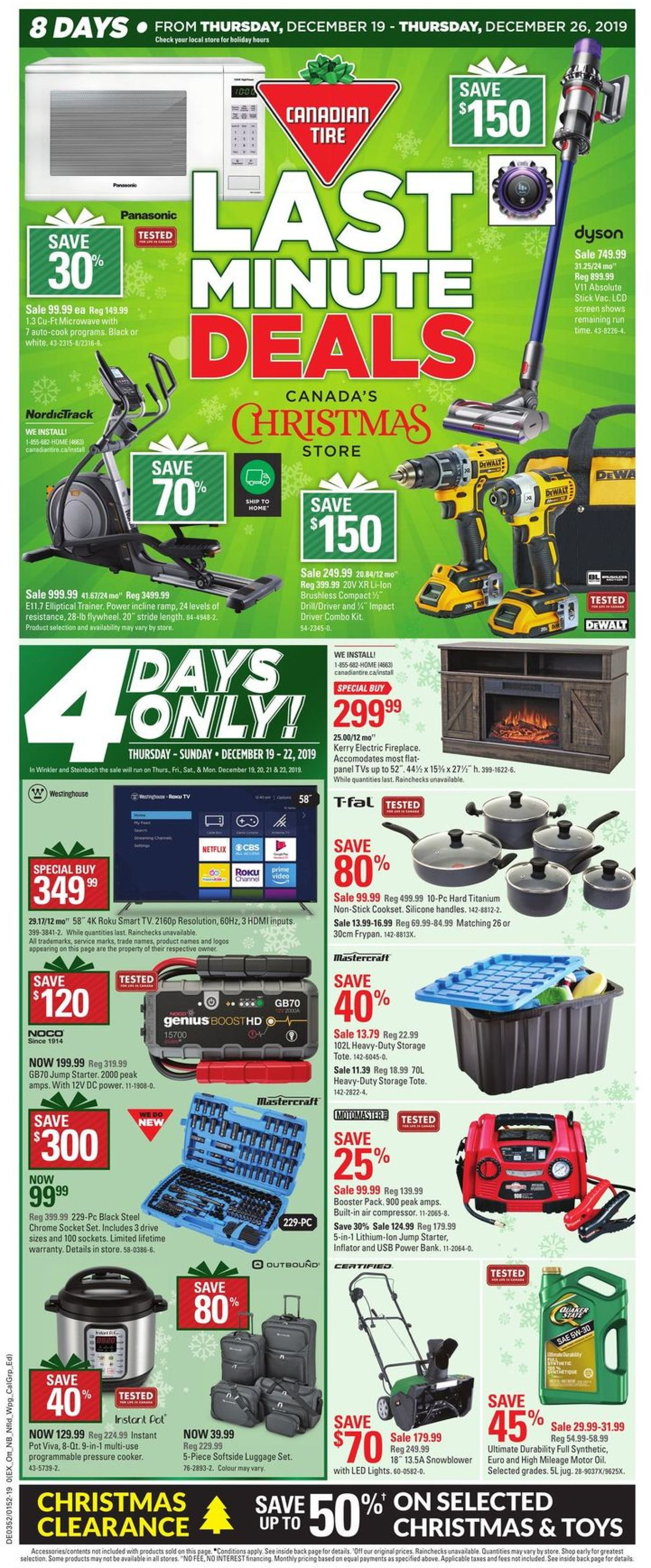 Canadian Tire Christmas Flyer 2019 Flyer - 12/19-12/26/2019