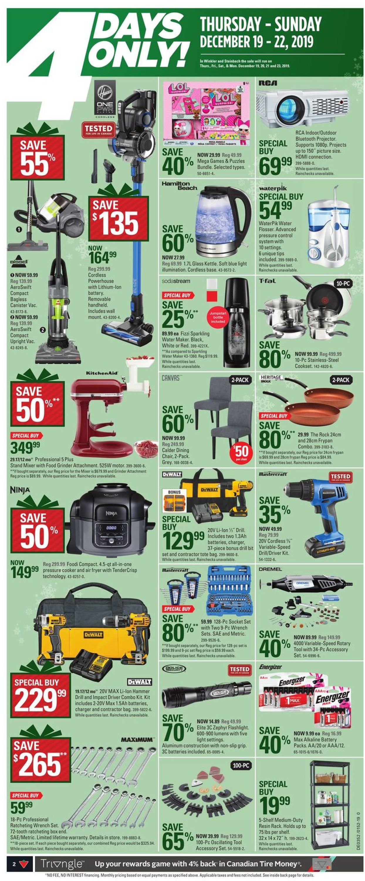 Canadian Tire Christmas Flyer 2019 Flyer - 12/19-12/26/2019 (Page 2)