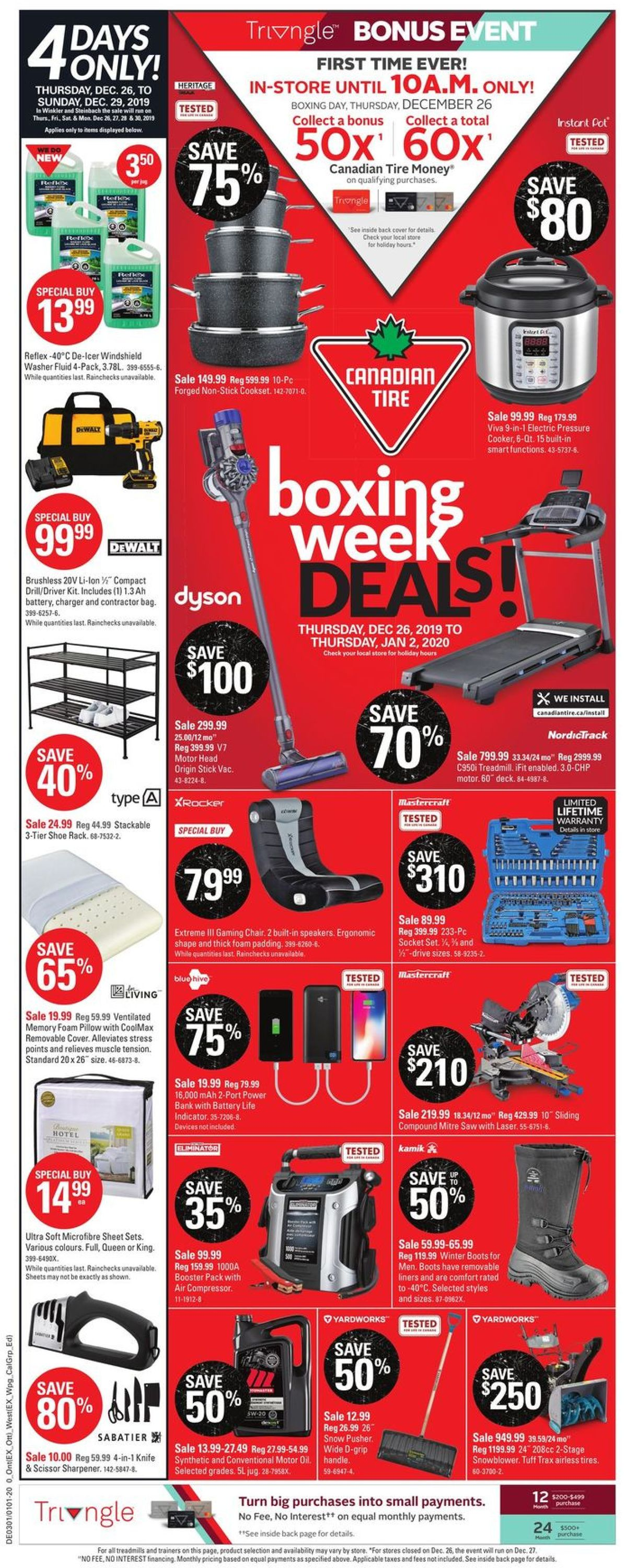 Canadian Tire - Christmas Flyer 2019 Flyer - 12/26-01/02/2020