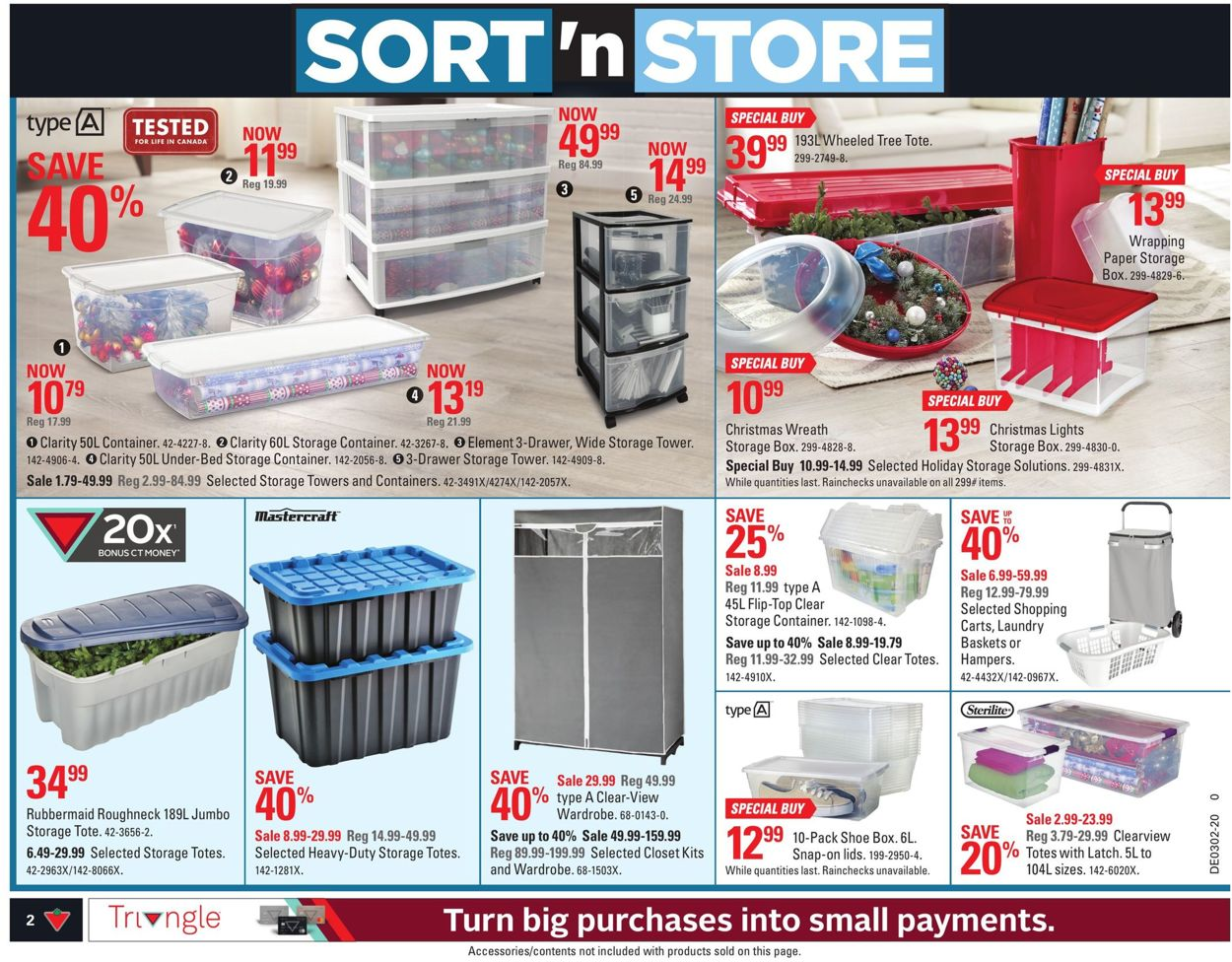 Canadian Tire Flyer - 01/03-01/09/2020 (Page 2)