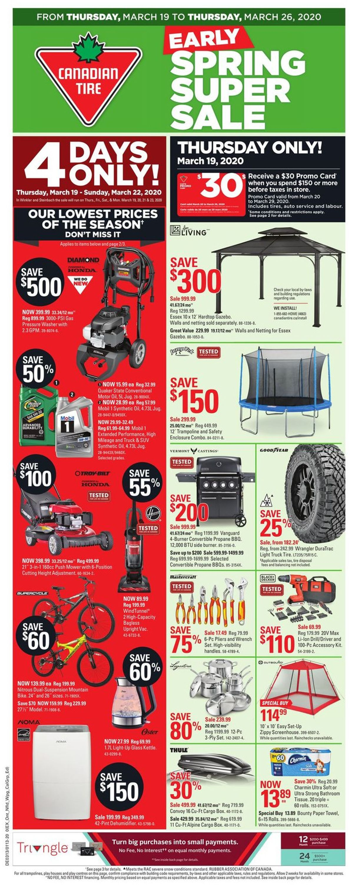 Canadian Tire Flyer - 03/19-03/26/2020