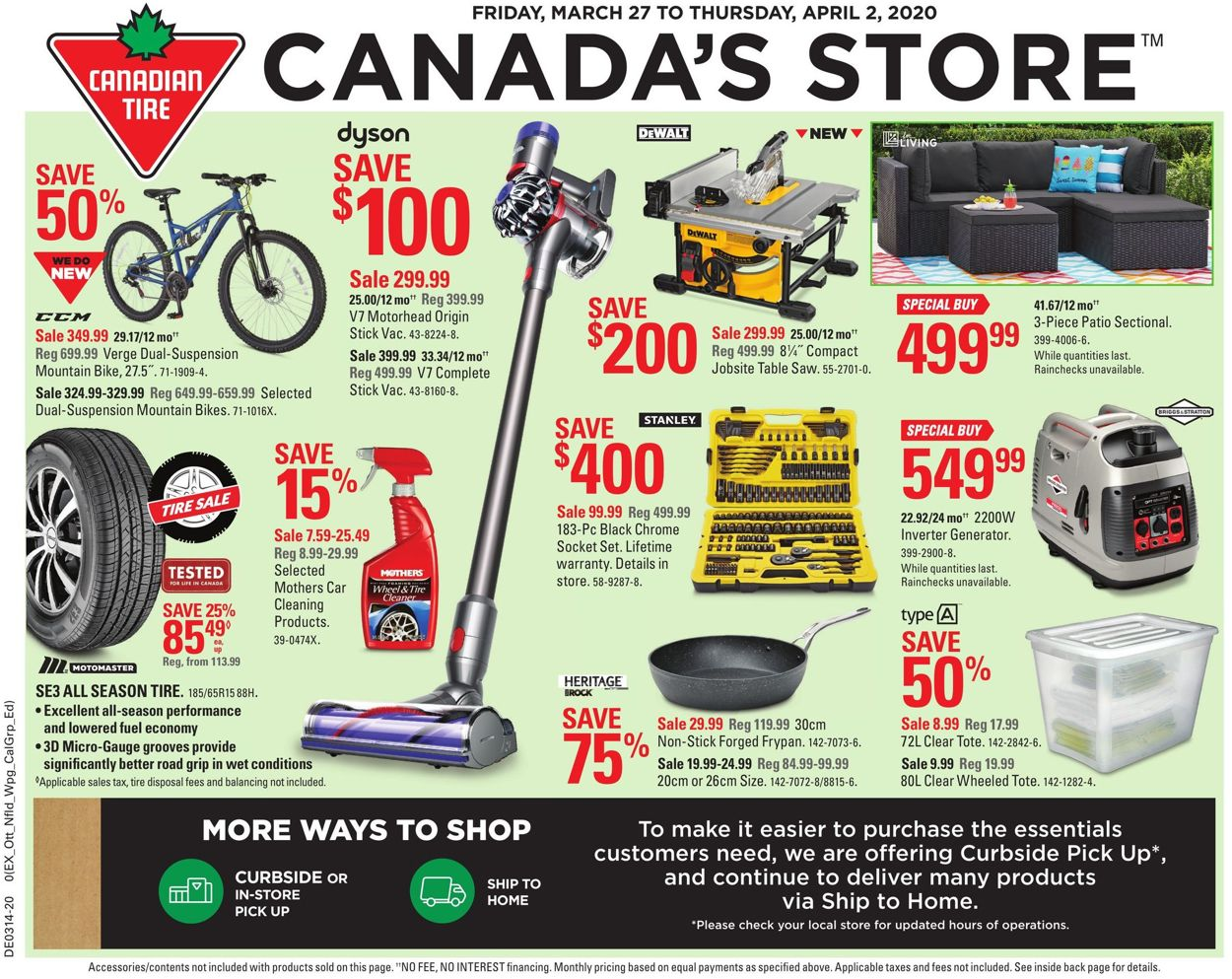 Canadian Tire Flyer - 03/27-04/02/2020