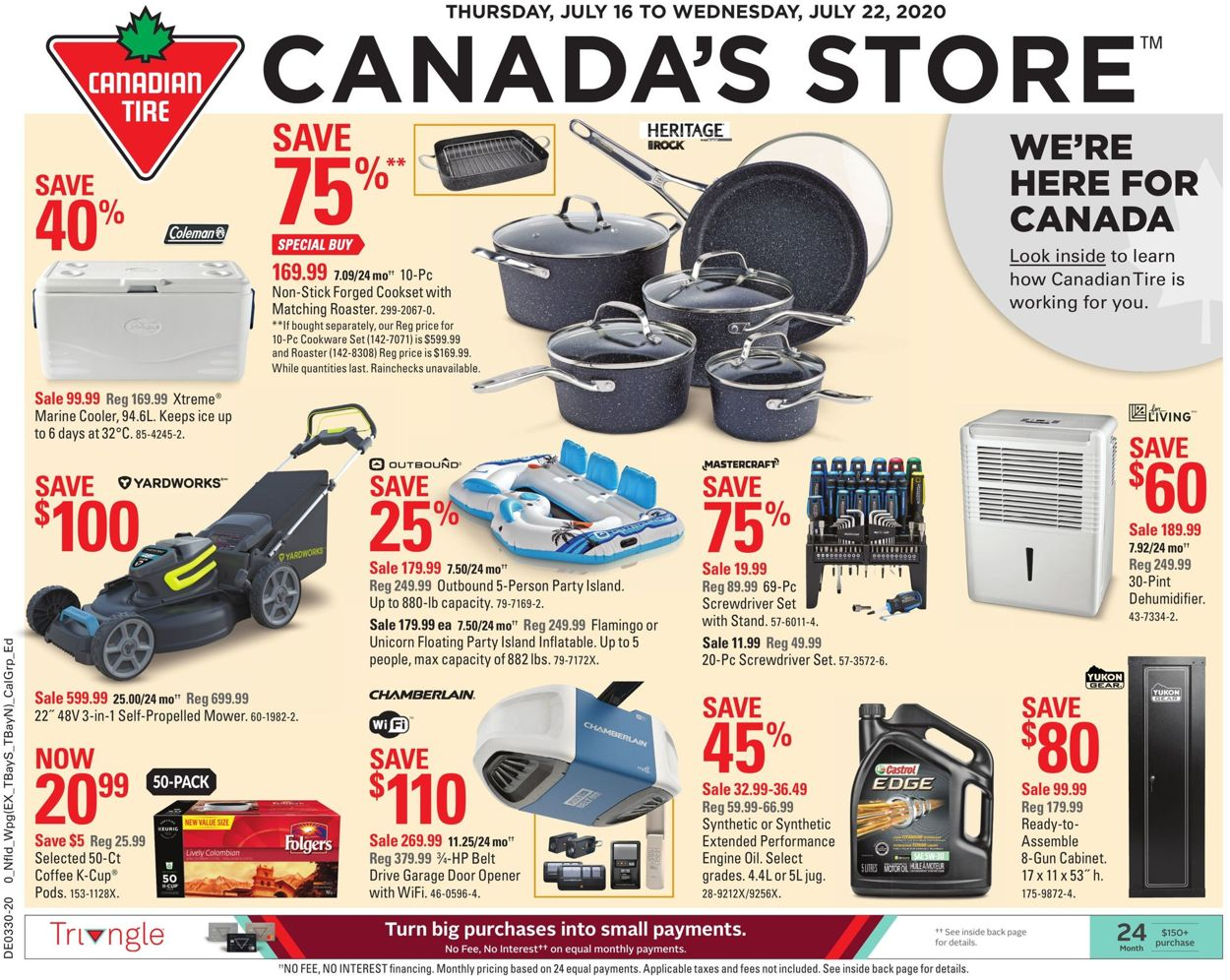 Canadian Tire Flyer - 07/16-07/22/2020