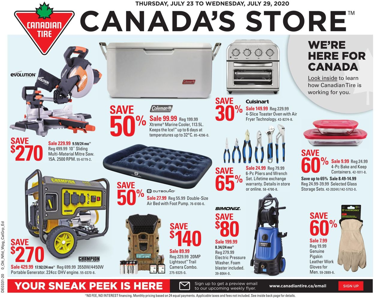 Canadian Tire Flyer - 07/23-07/29/2020