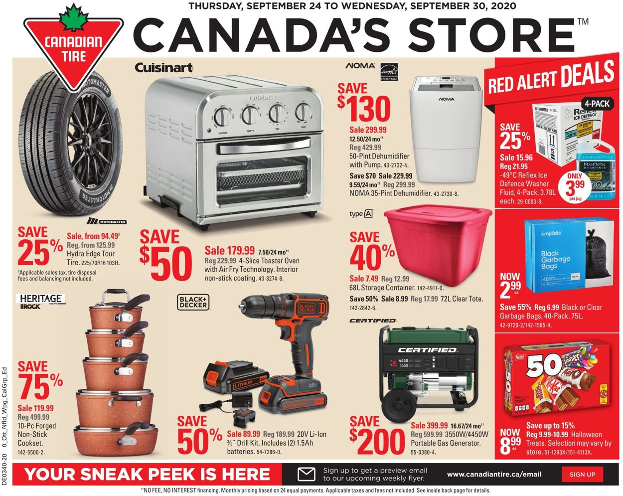 Canadian Tire Flyer - 09/24-09/30/2020