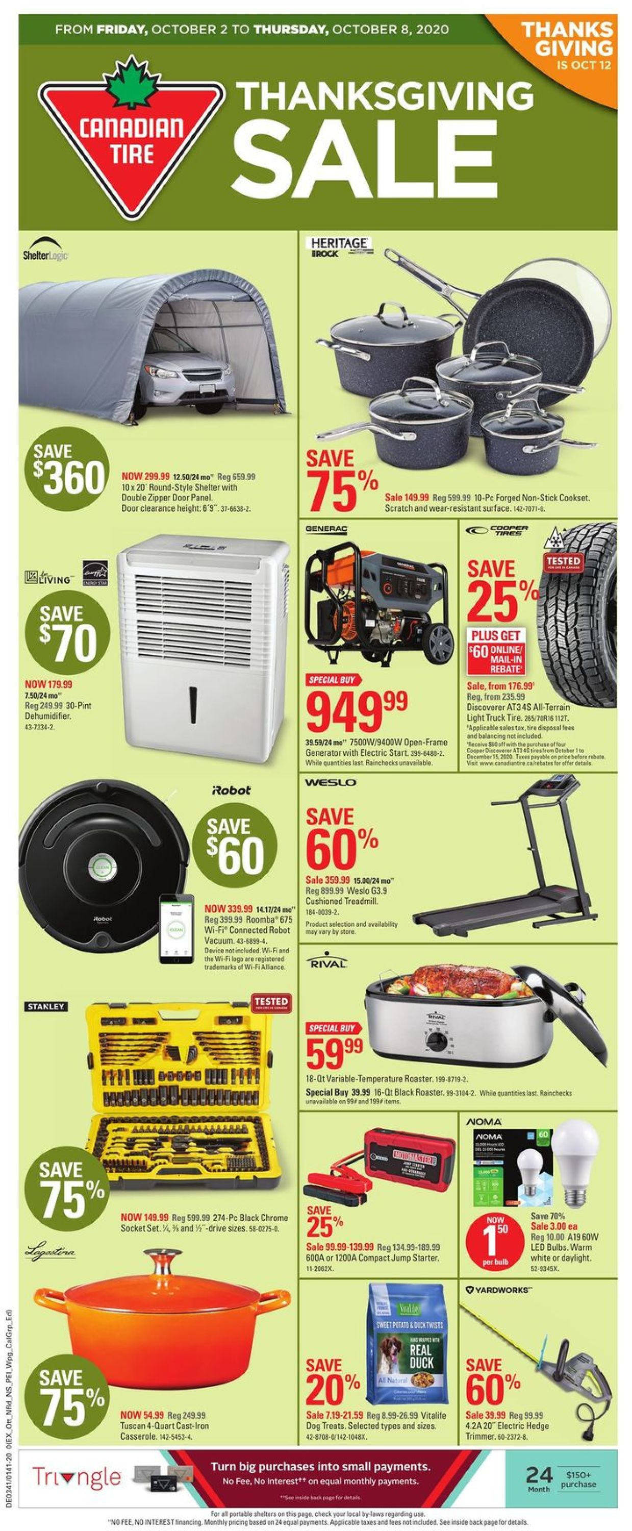 Canadian Tire Flyer - 10/02-10/08/2020