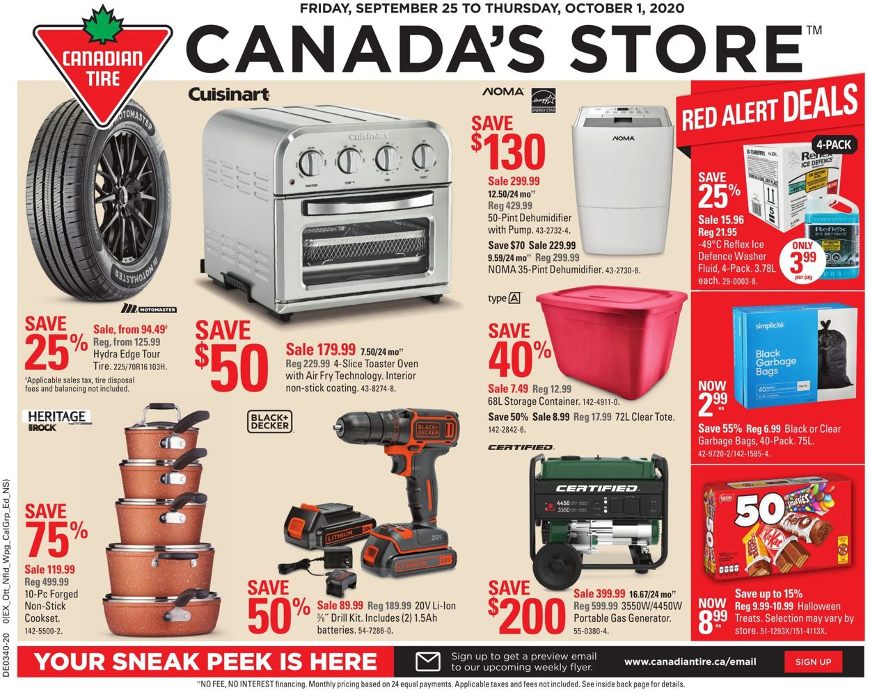 Canadian Tire Flyer - 09/25-10/01/2020
