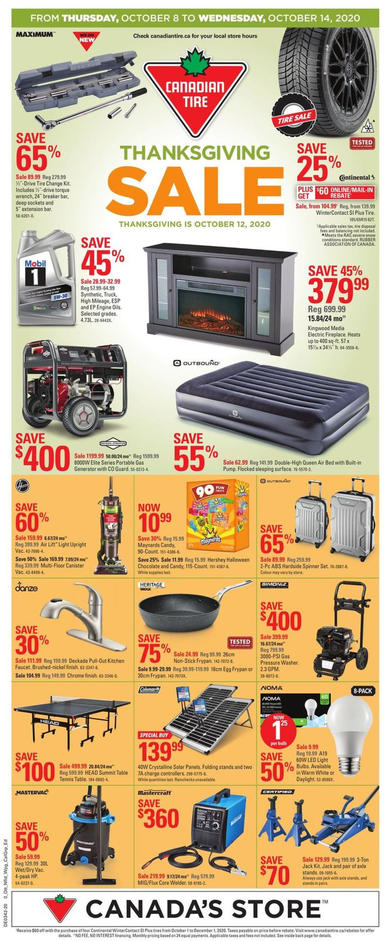 Canadian Tire Flyer - 10/08-10/14/2020