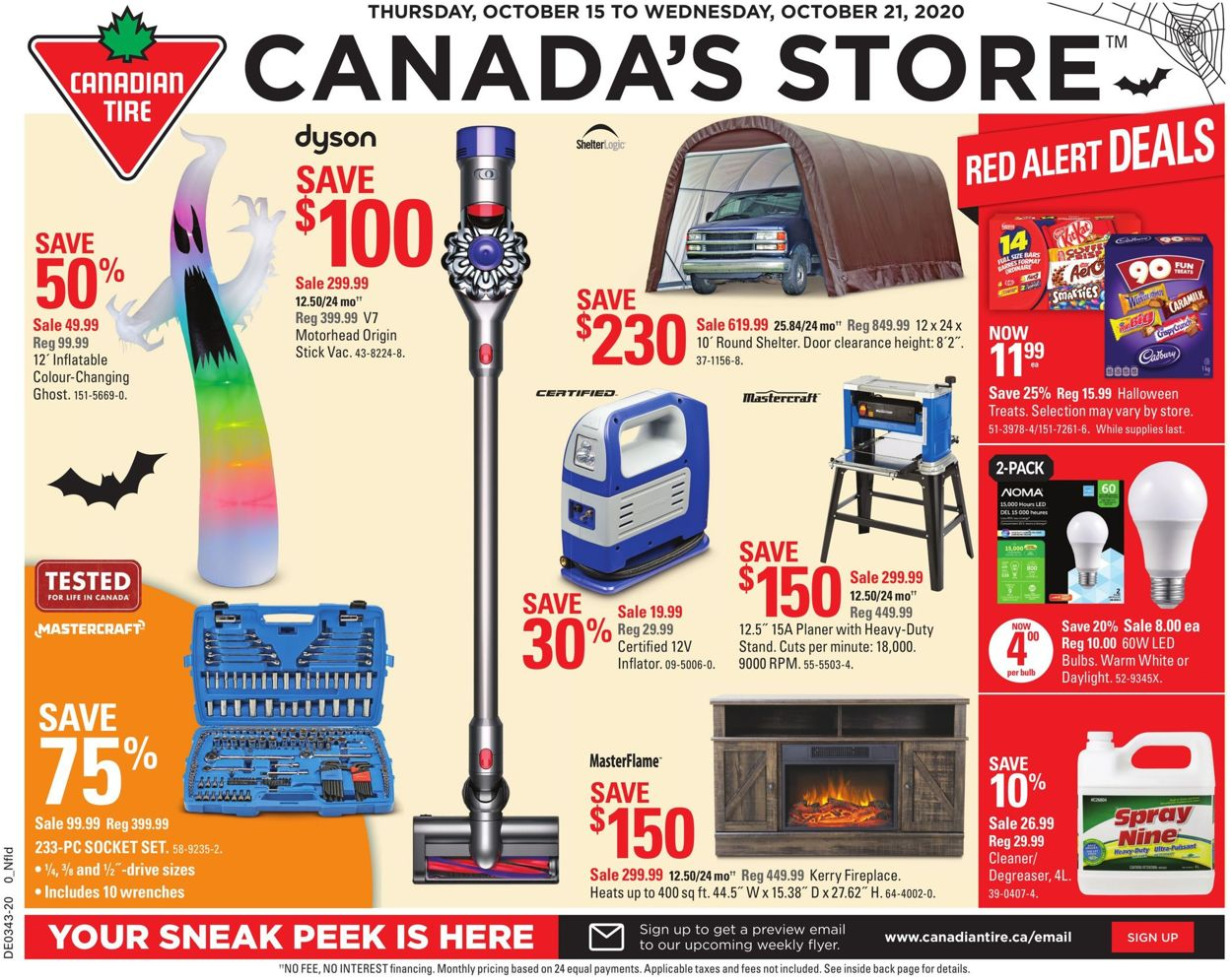 Canadian Tire Flyer - 10/15-10/21/2020