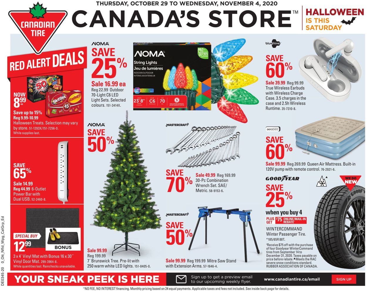 Canadian Tire Flyer - 10/29-11/04/2020