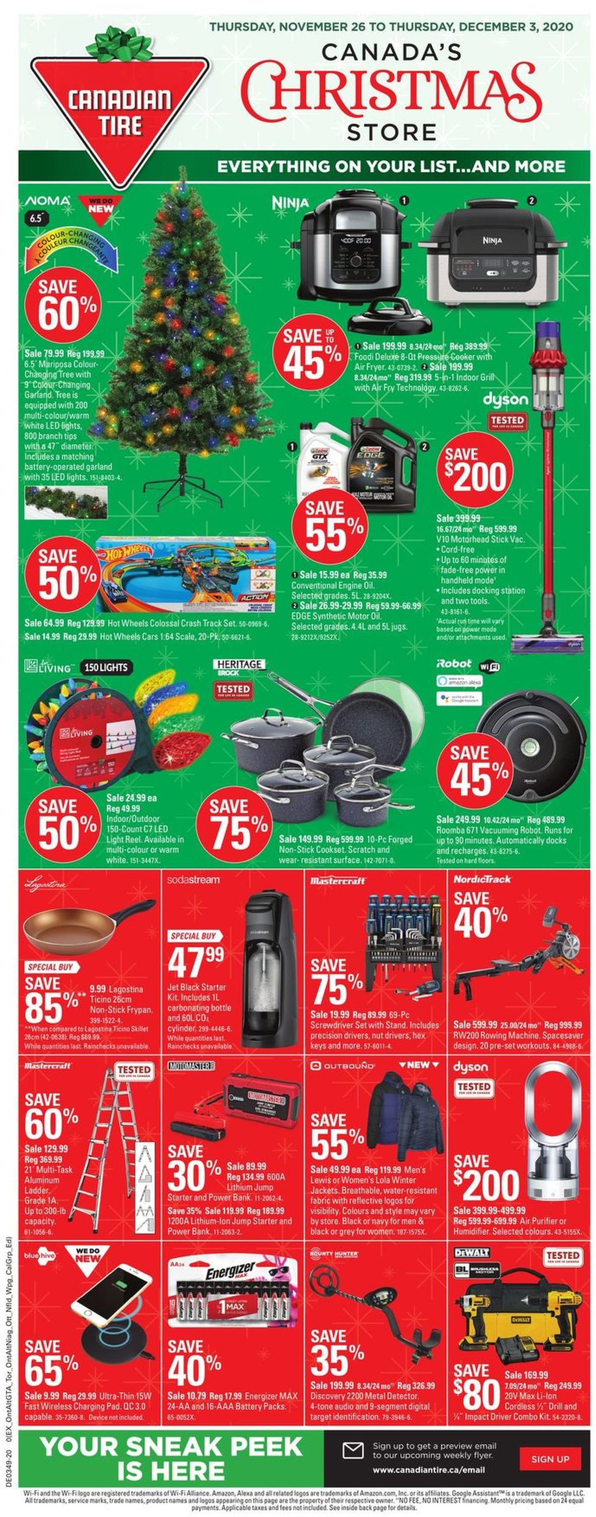 Canadian Tire Christmas Store 2020 Flyer - 11/26-12/03/2020