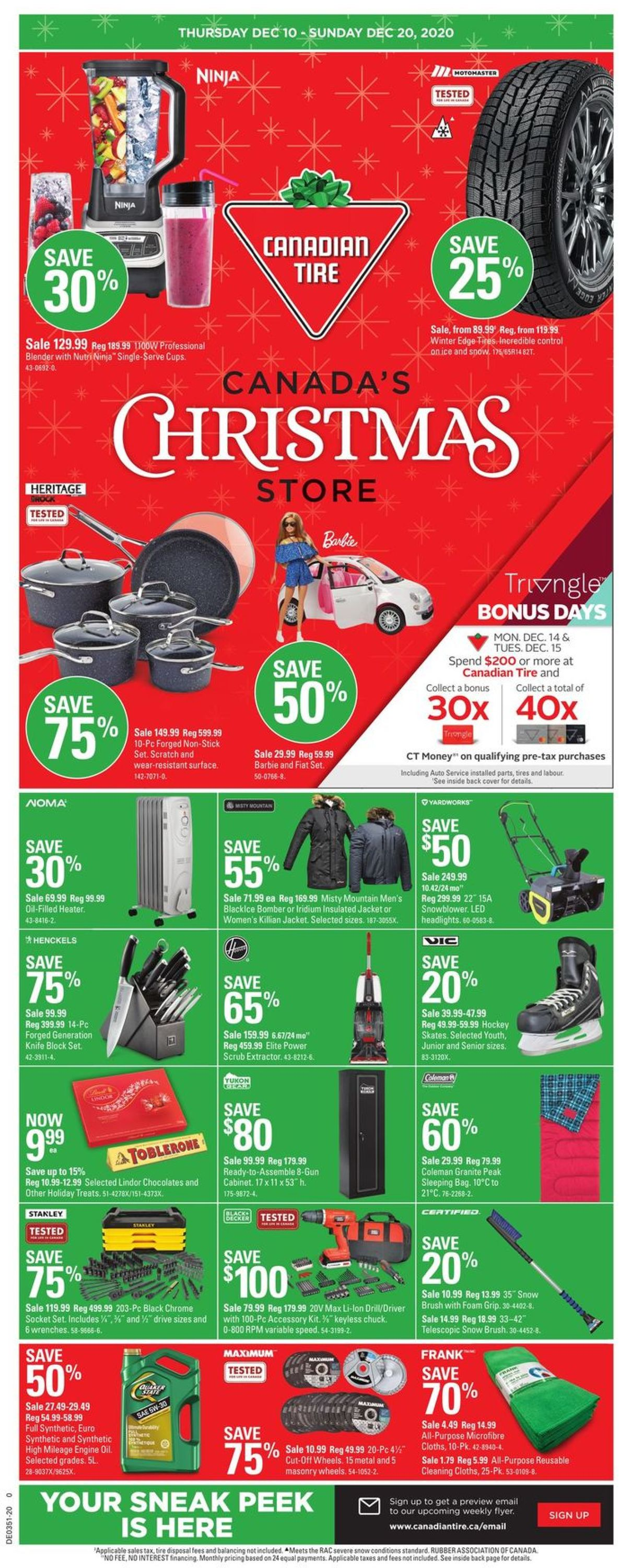 Canadian Tire Christmas Store 2020 Flyer - 12/10-12/20/2020