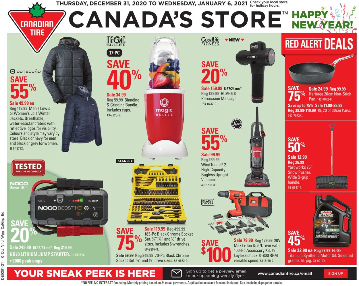 Canadian Tire- Happy New Year 2021 Flyer - 12/31-01/06/2021