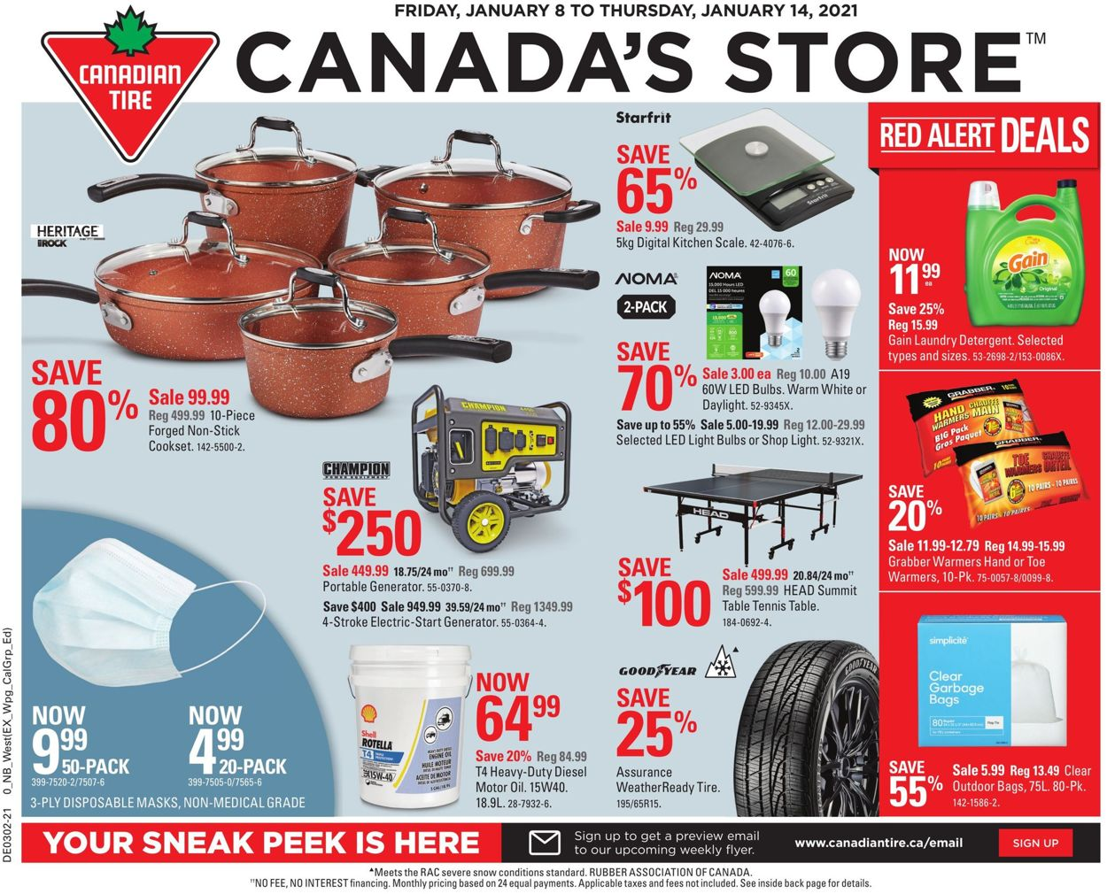 Canadian Tire Flyer - 01/08-01/14/2021