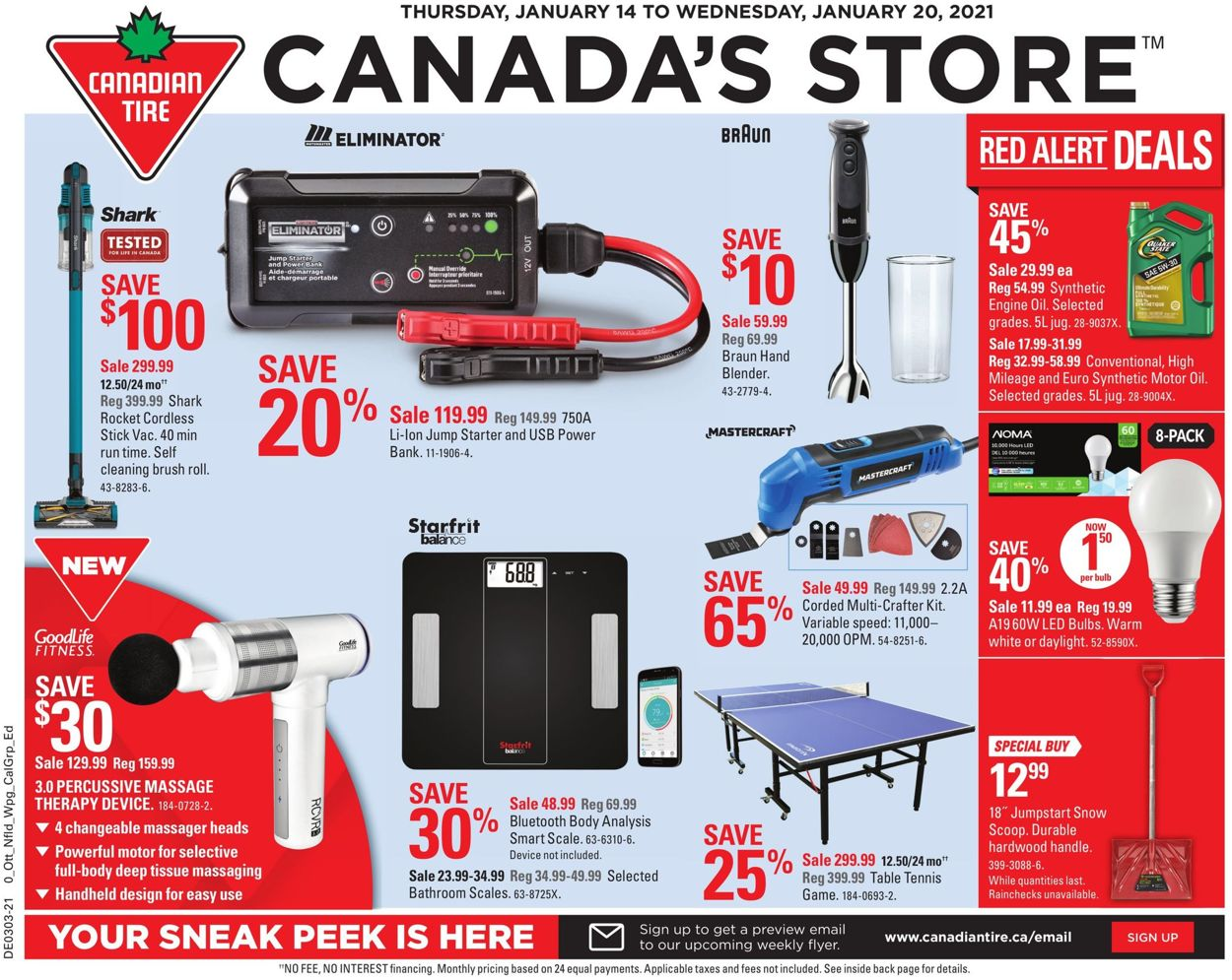 Canadian Tire Flyer - 01/14-01/20/2021