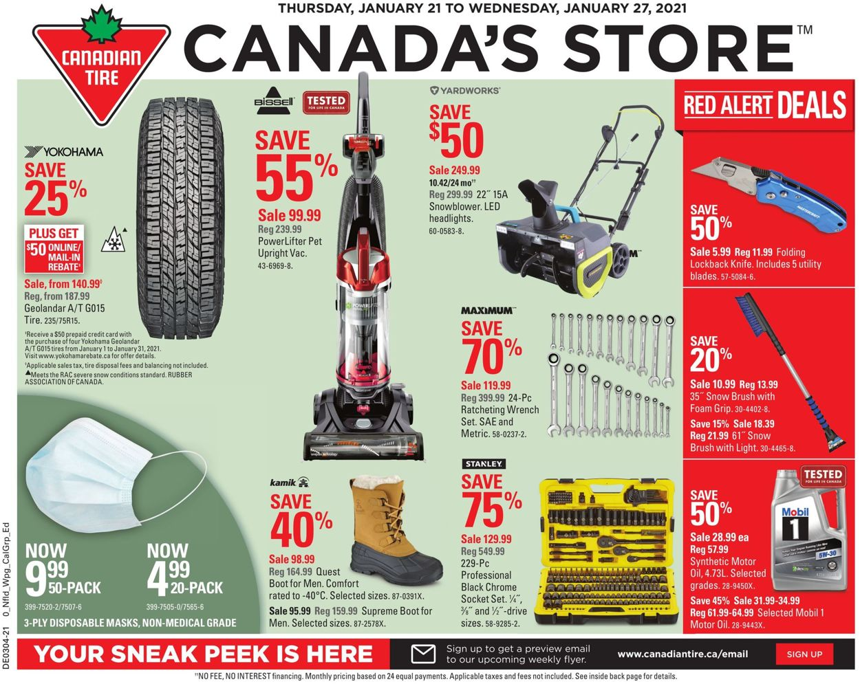 Canadian Tire Flyer - 01/21-01/27/2021