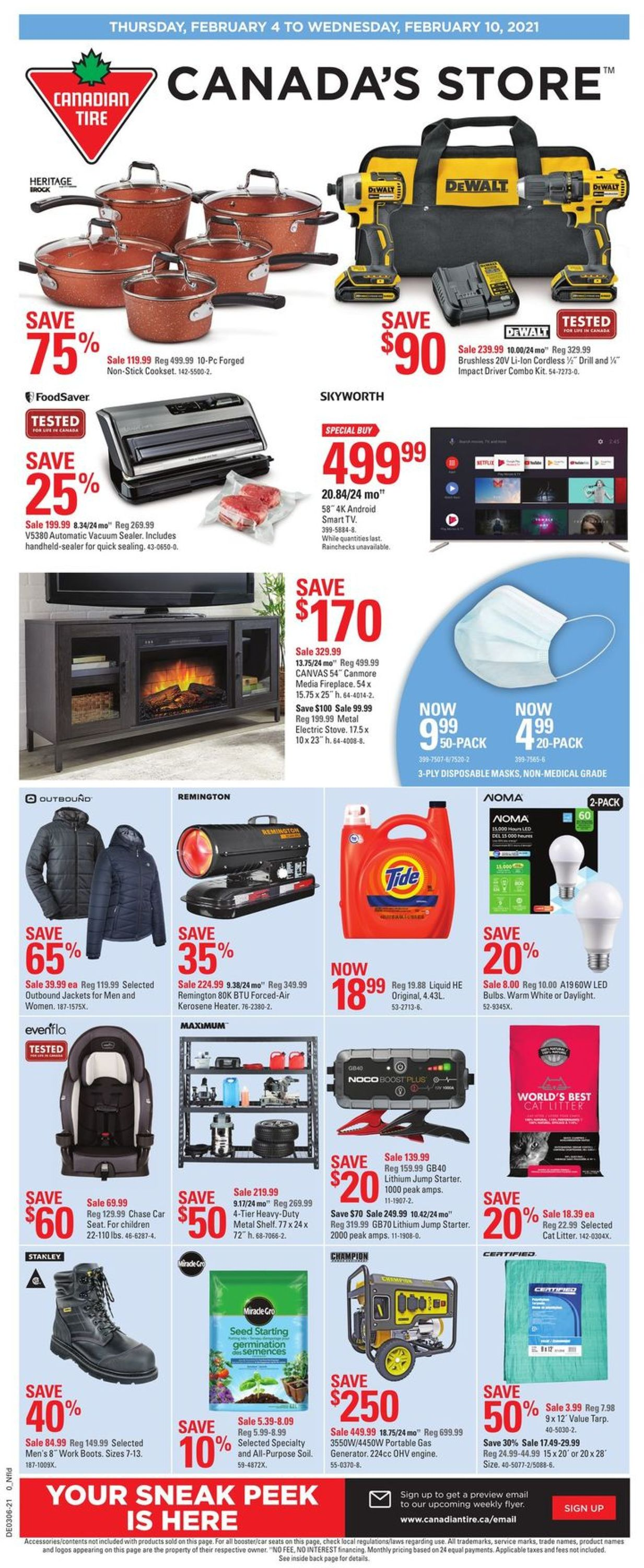 Canadian Tire Flyer - 02/04-02/10/2021