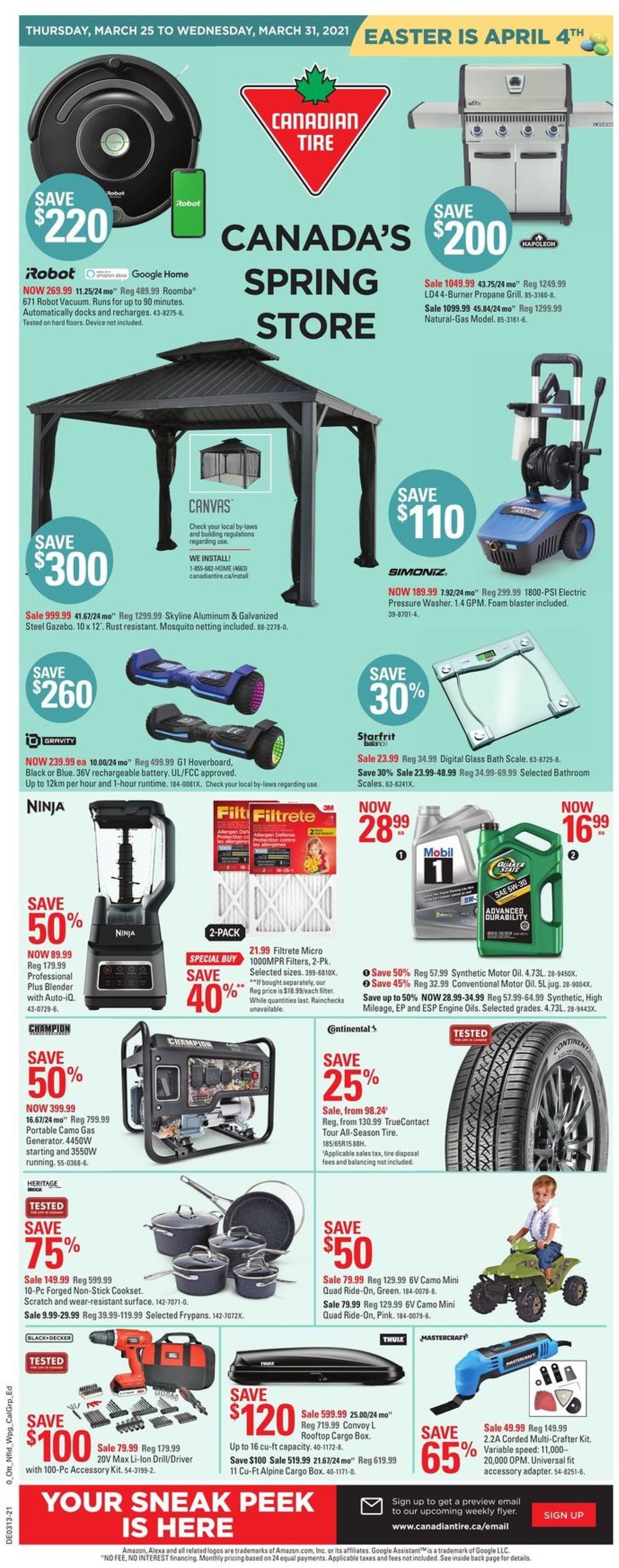 Canadian Tire Flyer - 03/25-03/31/2021