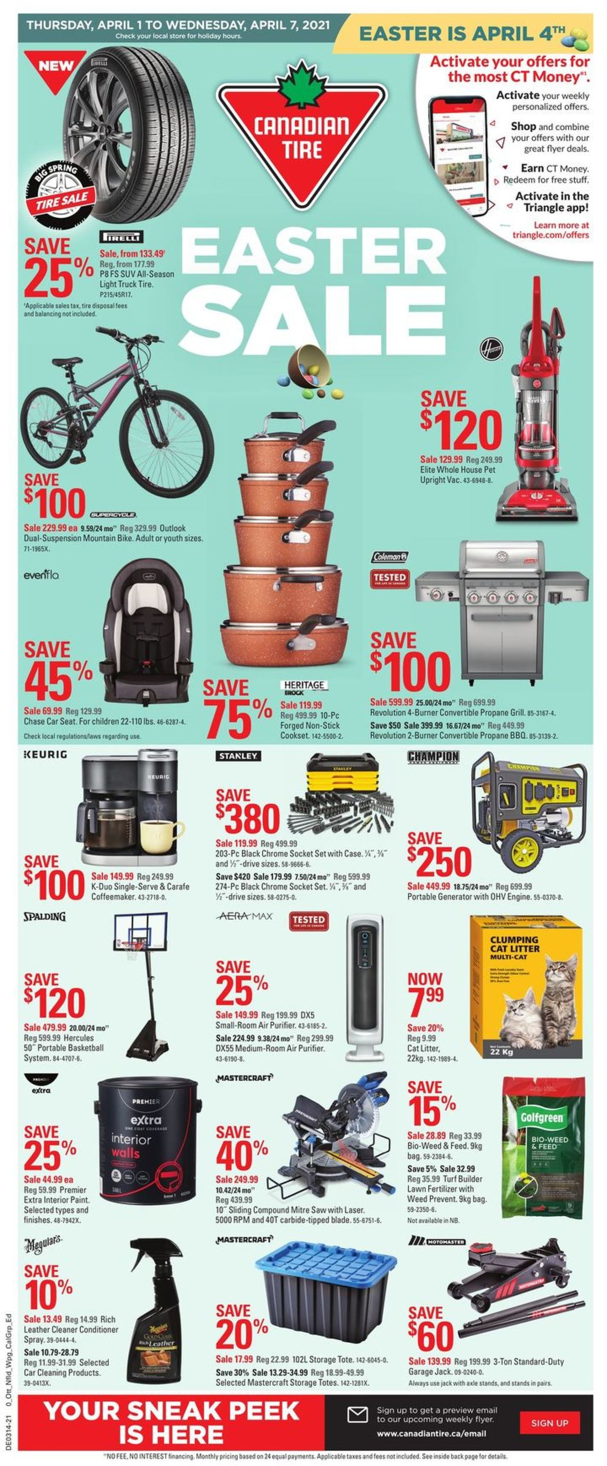 Canadian Tire Flyer - 04/01-04/07/2021