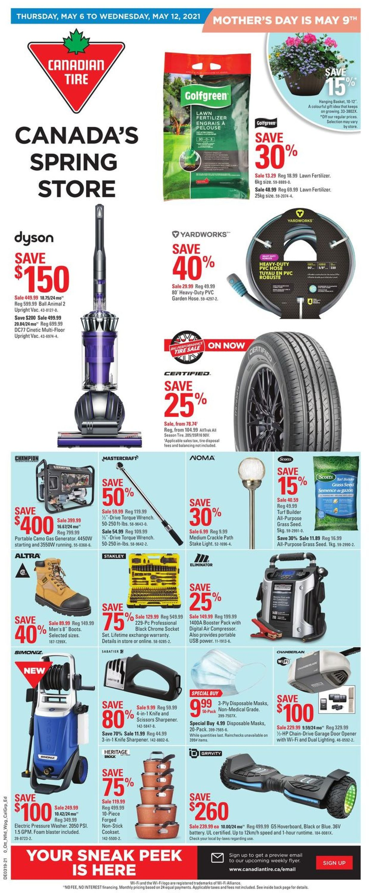 Canadian Tire Flyer - 05/06-05/12/2021