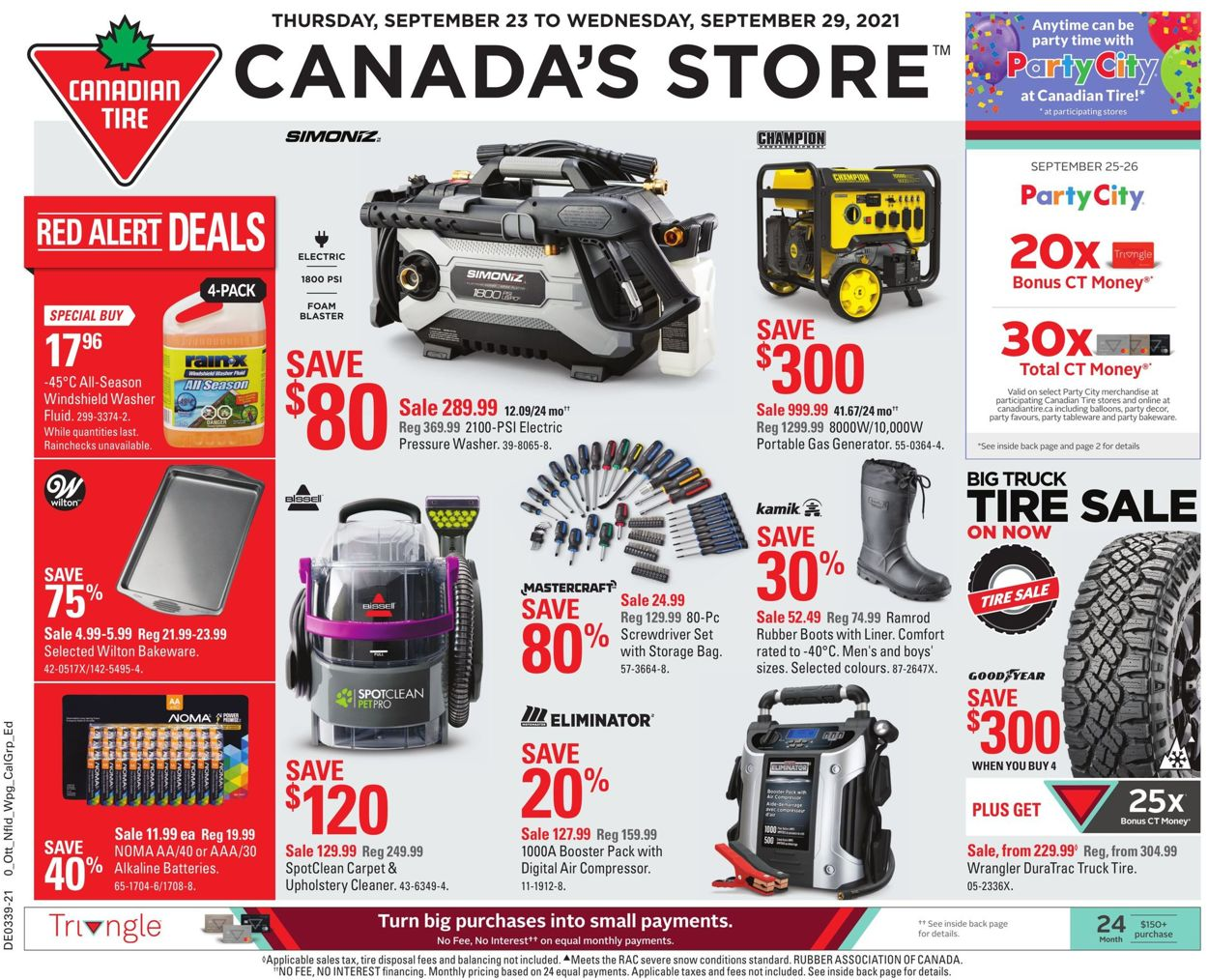 Canadian Tire Flyer - 09/23-09/29/2021