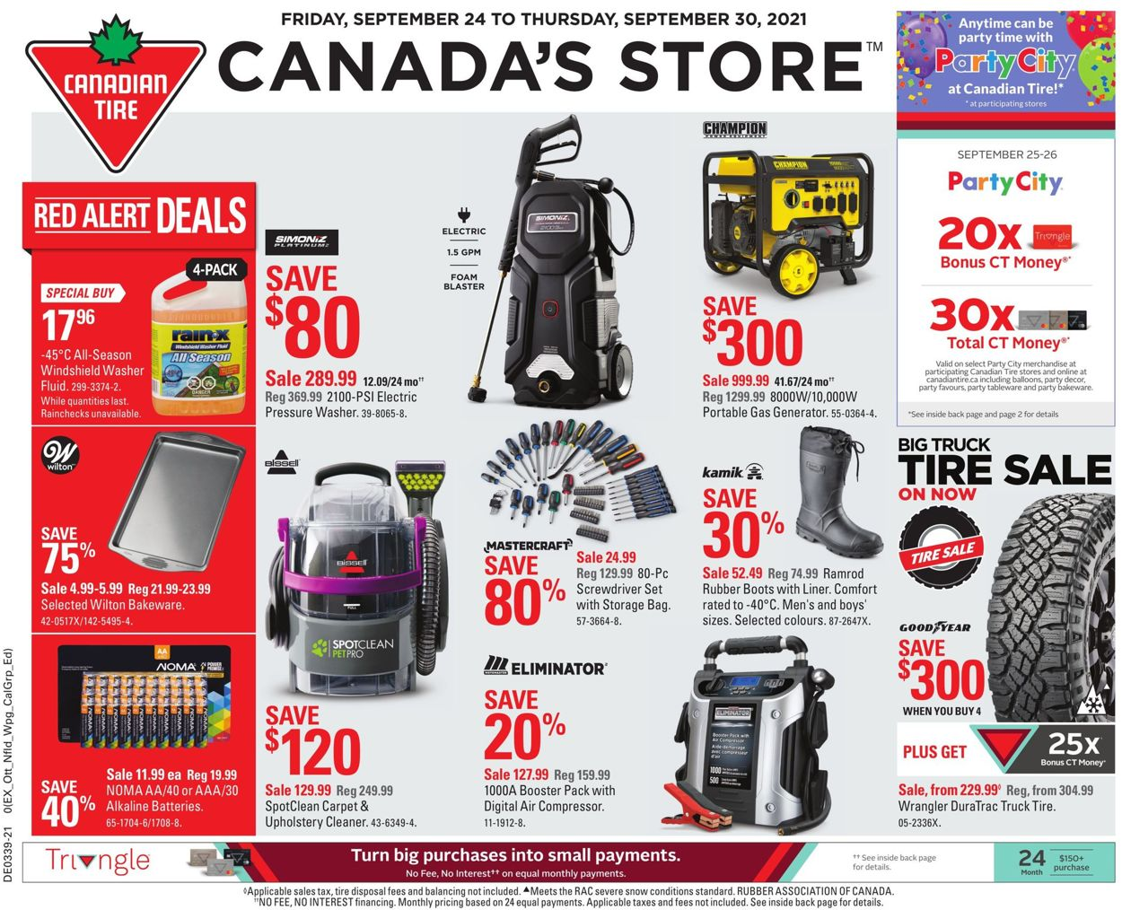 Canadian Tire Flyer - 09/24-09/30/2021
