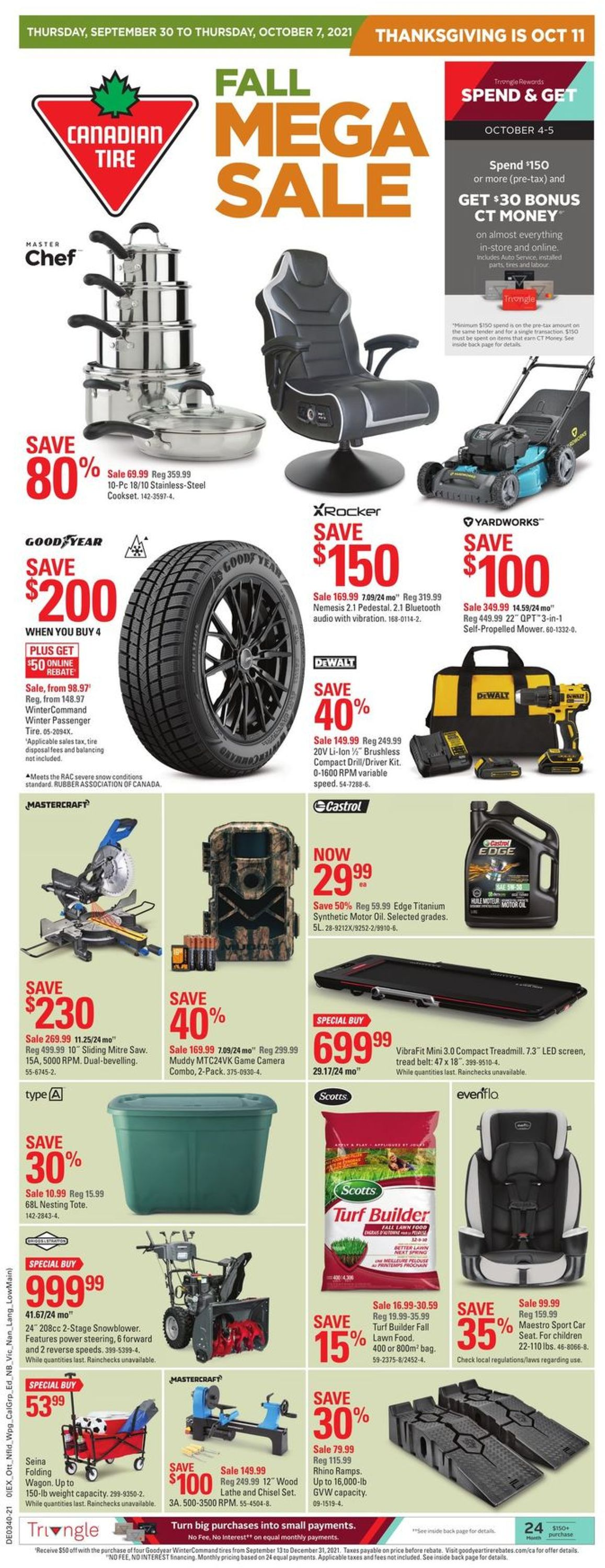Canadian Tire Flyer - 09/30-10/07/2021