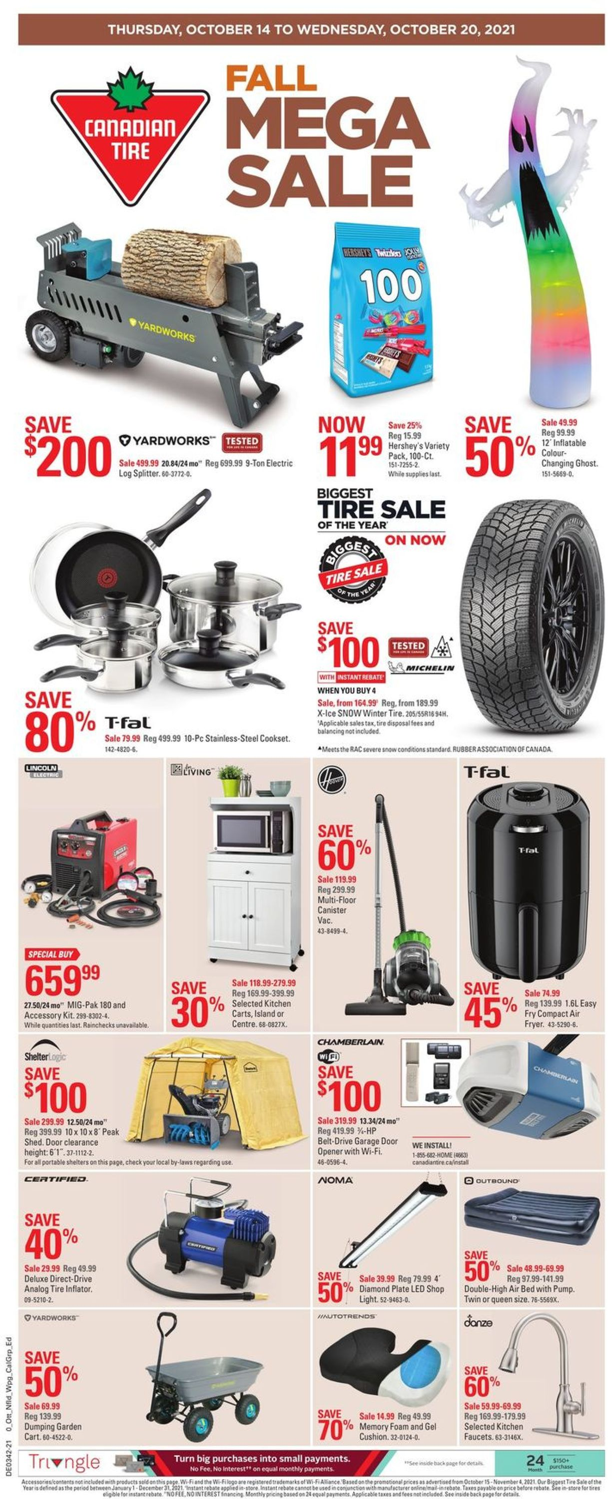 Canadian Tire Flyer - 10/14-10/20/2021