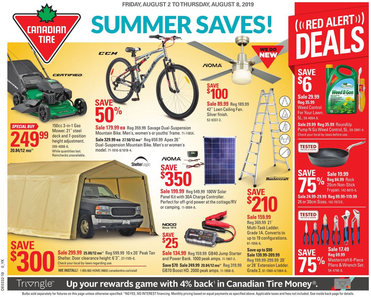 Canadian Tire Flyer - 08/02-08/08/2019