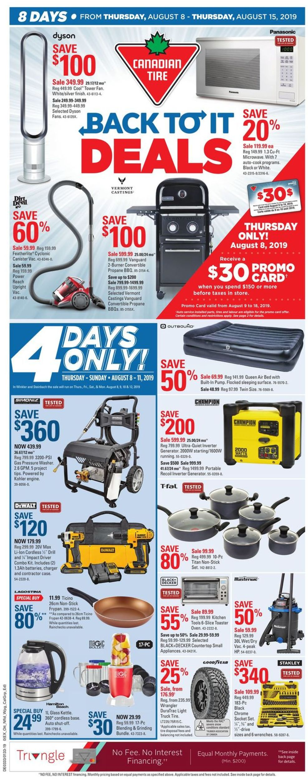 Canadian Tire Flyer - 08/08-08/15/2019